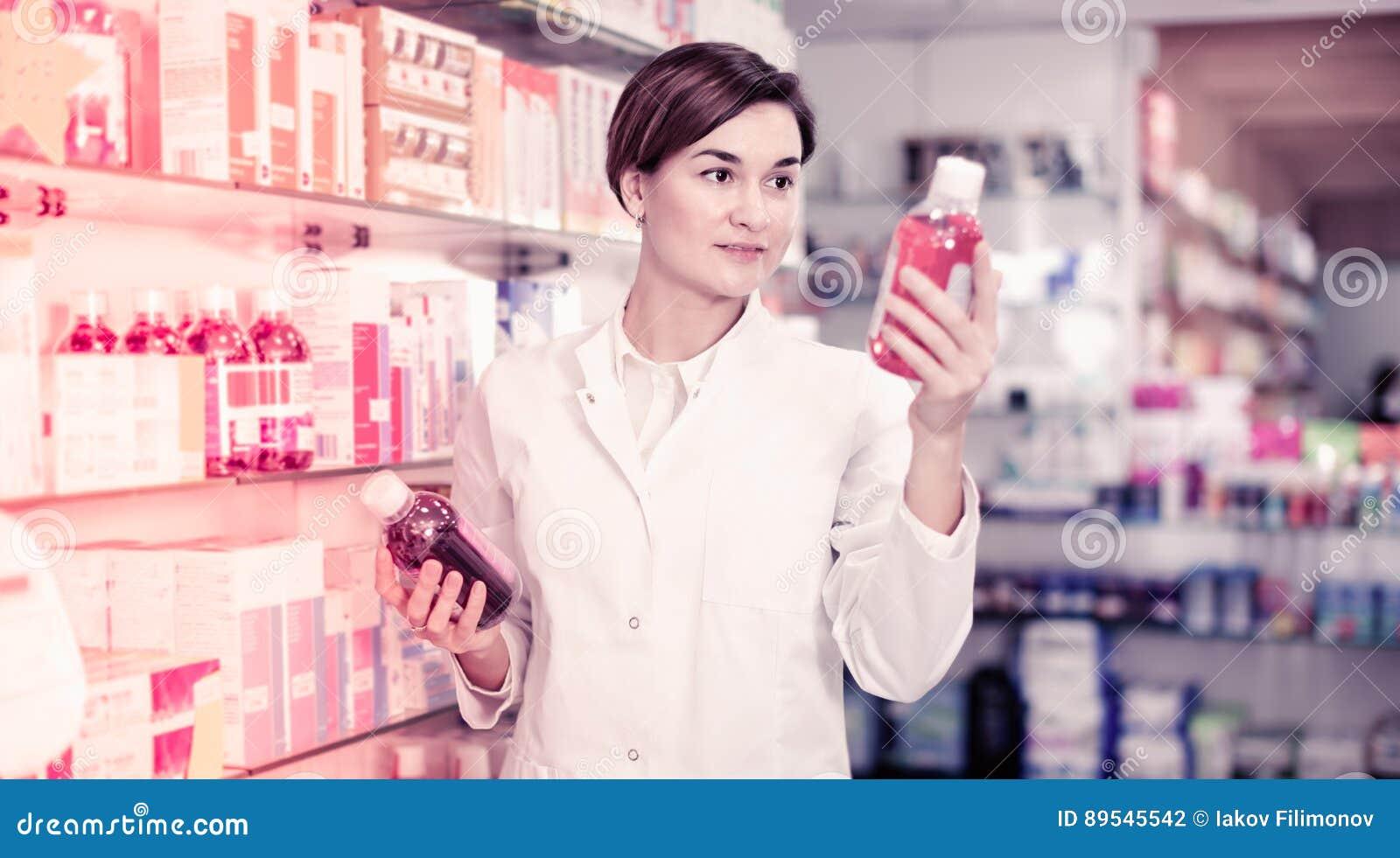 建议女性的药剂师有用的身体关心产品