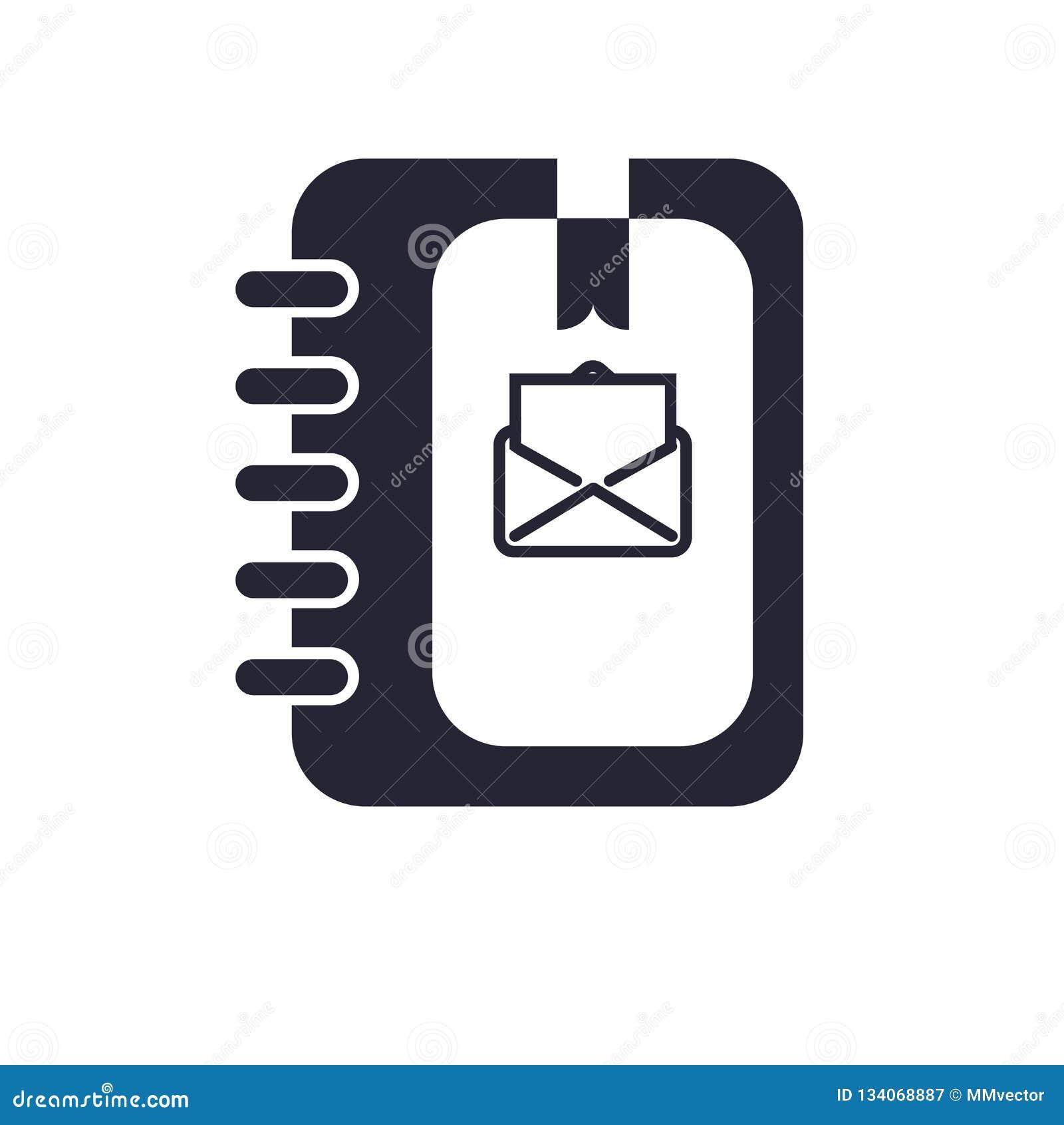 议程象在白色背景和标志隔绝的传染媒介标志,议程商标概念
