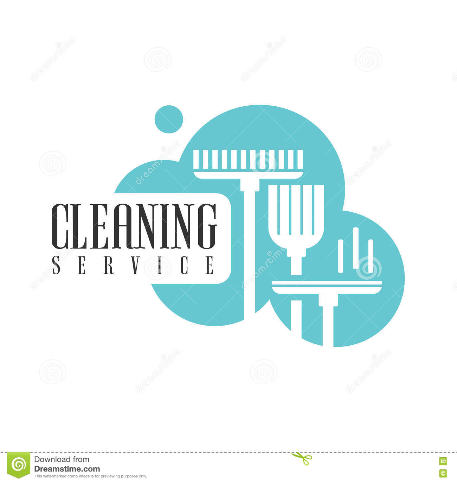 议院和办公室清洁服务聘用与笤帚和拖把的商标模板的专业擦净剂帮助的