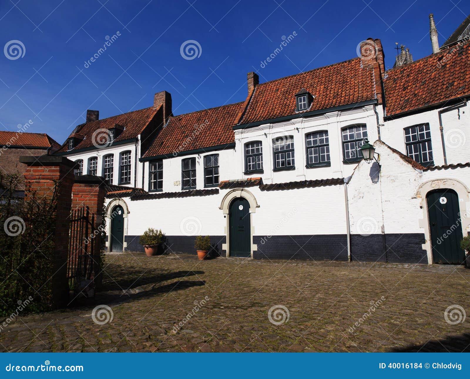议院在Beguinage在比利时