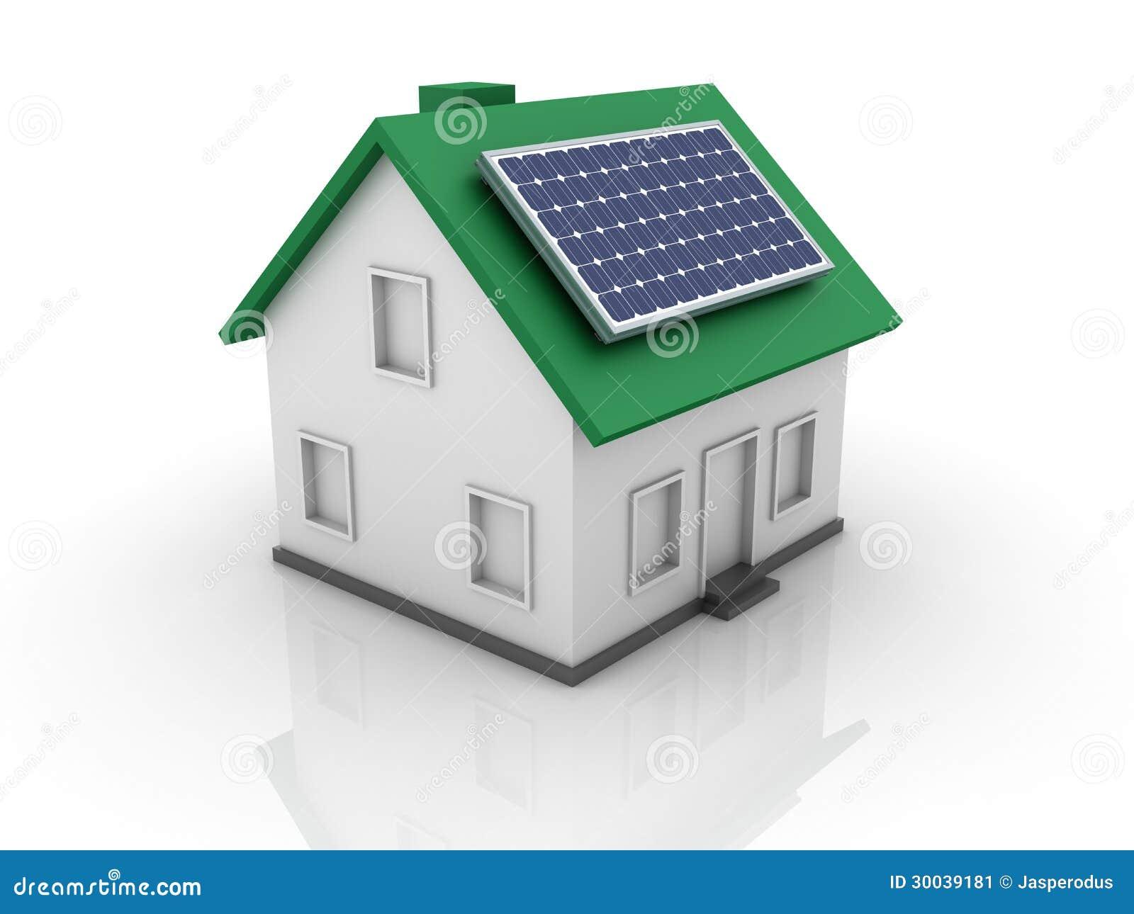 有太阳电池板的议院