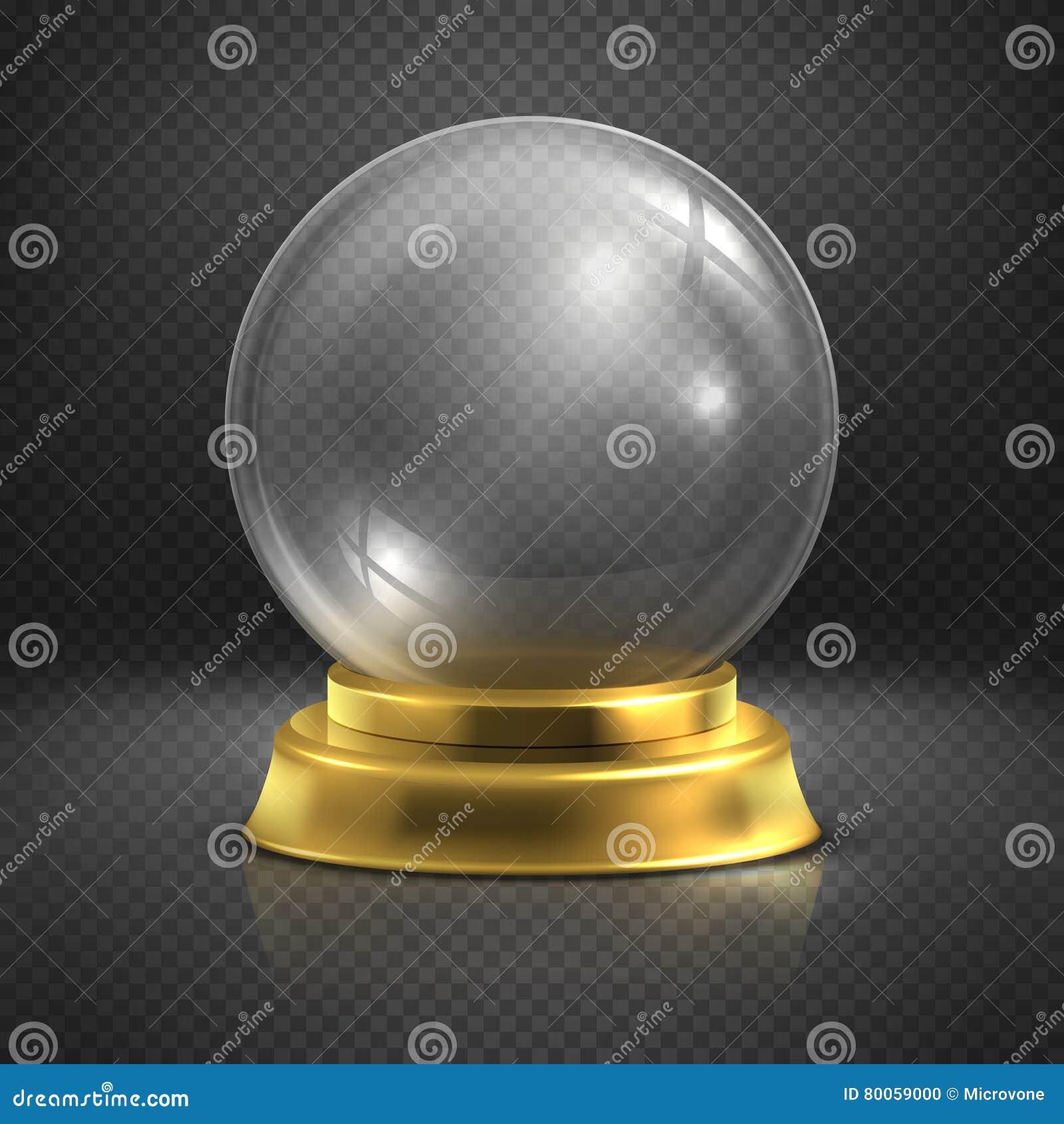 议,玻璃空的不可思议的球,雪地球传染媒介例证
