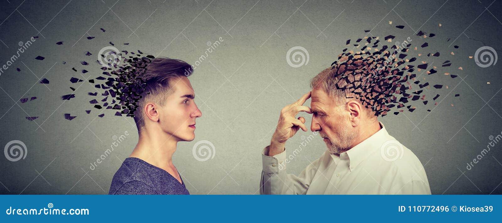 记忆损失由于老年痴呆或脑损伤