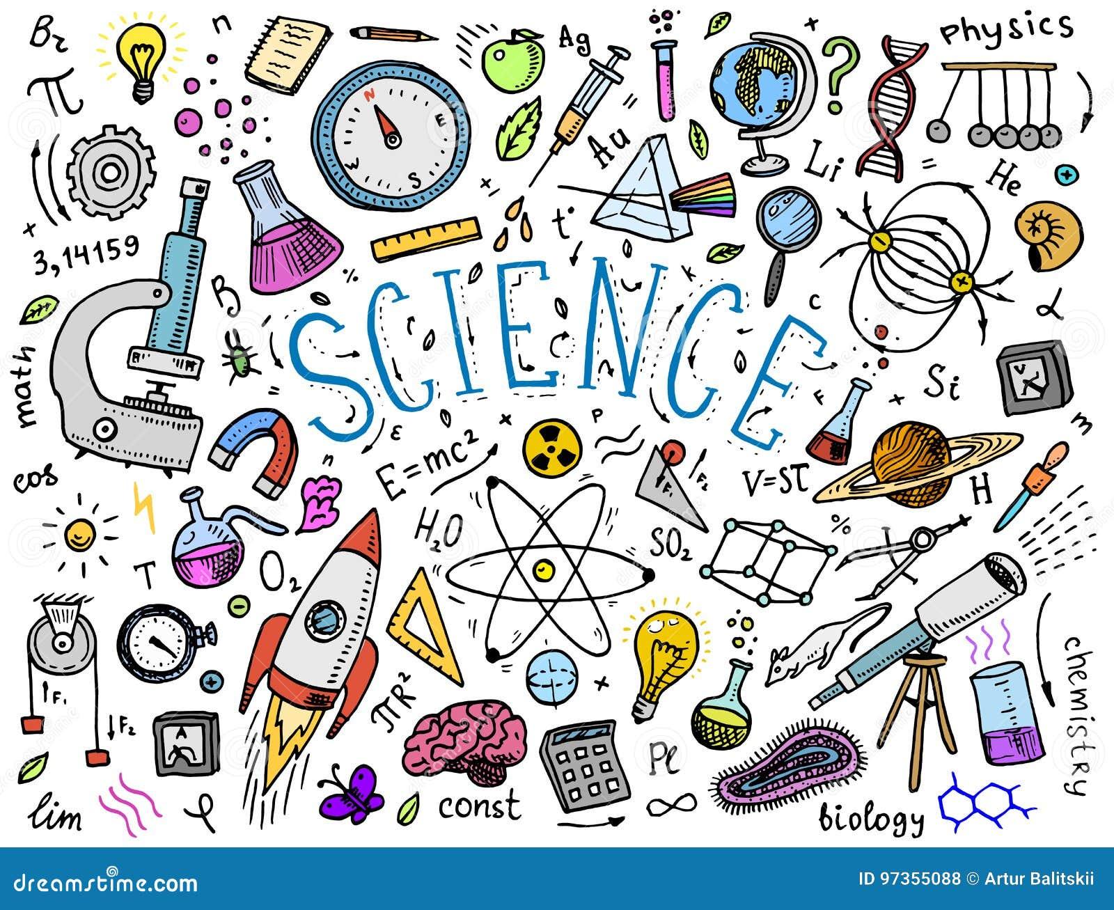 刻记手拉在老剪影和葡萄酒样式 科学惯例和演算在物理和数学