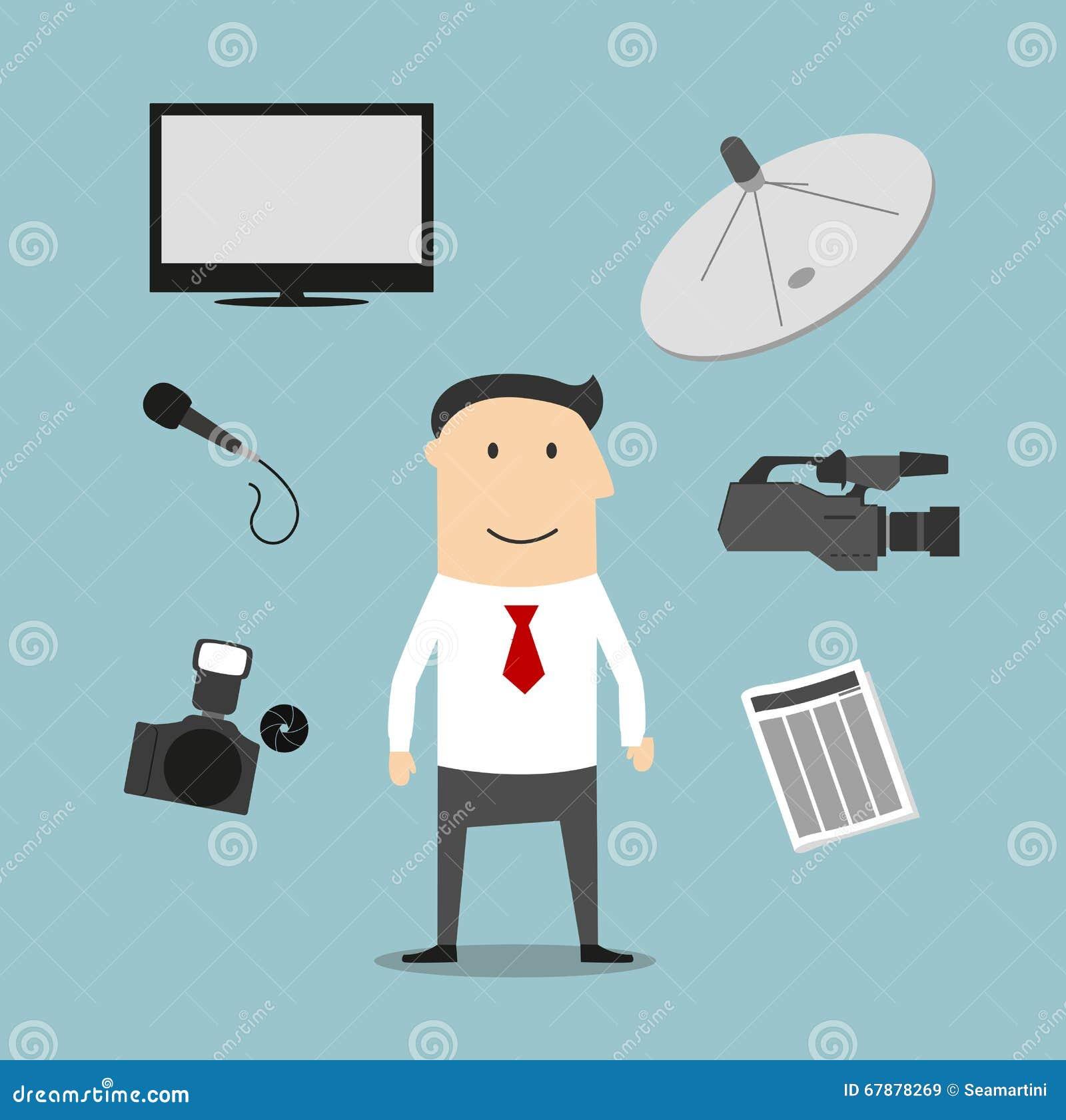 记者行业和广播设备