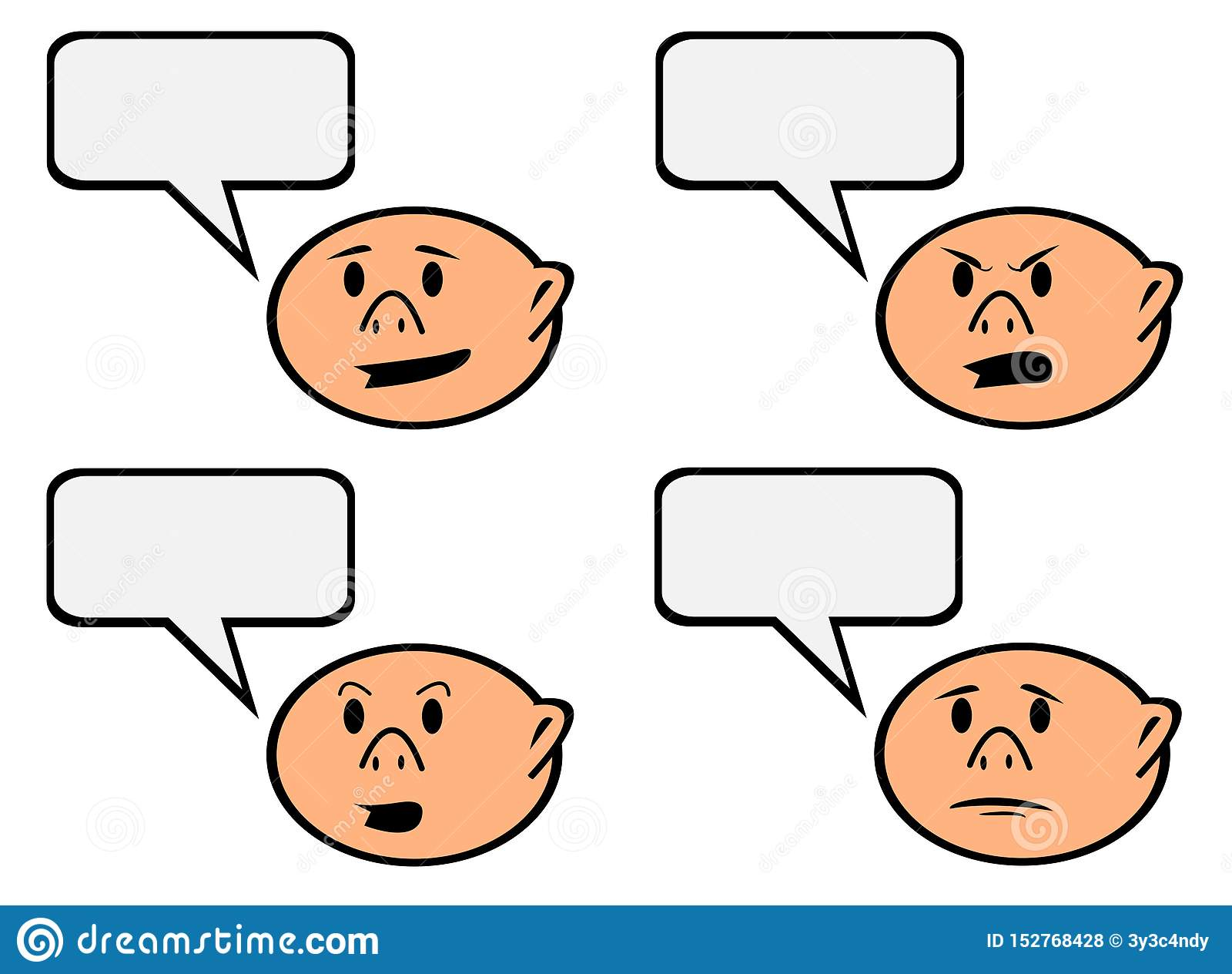 讲话与另外情感传染媒介的泡影卡通人物