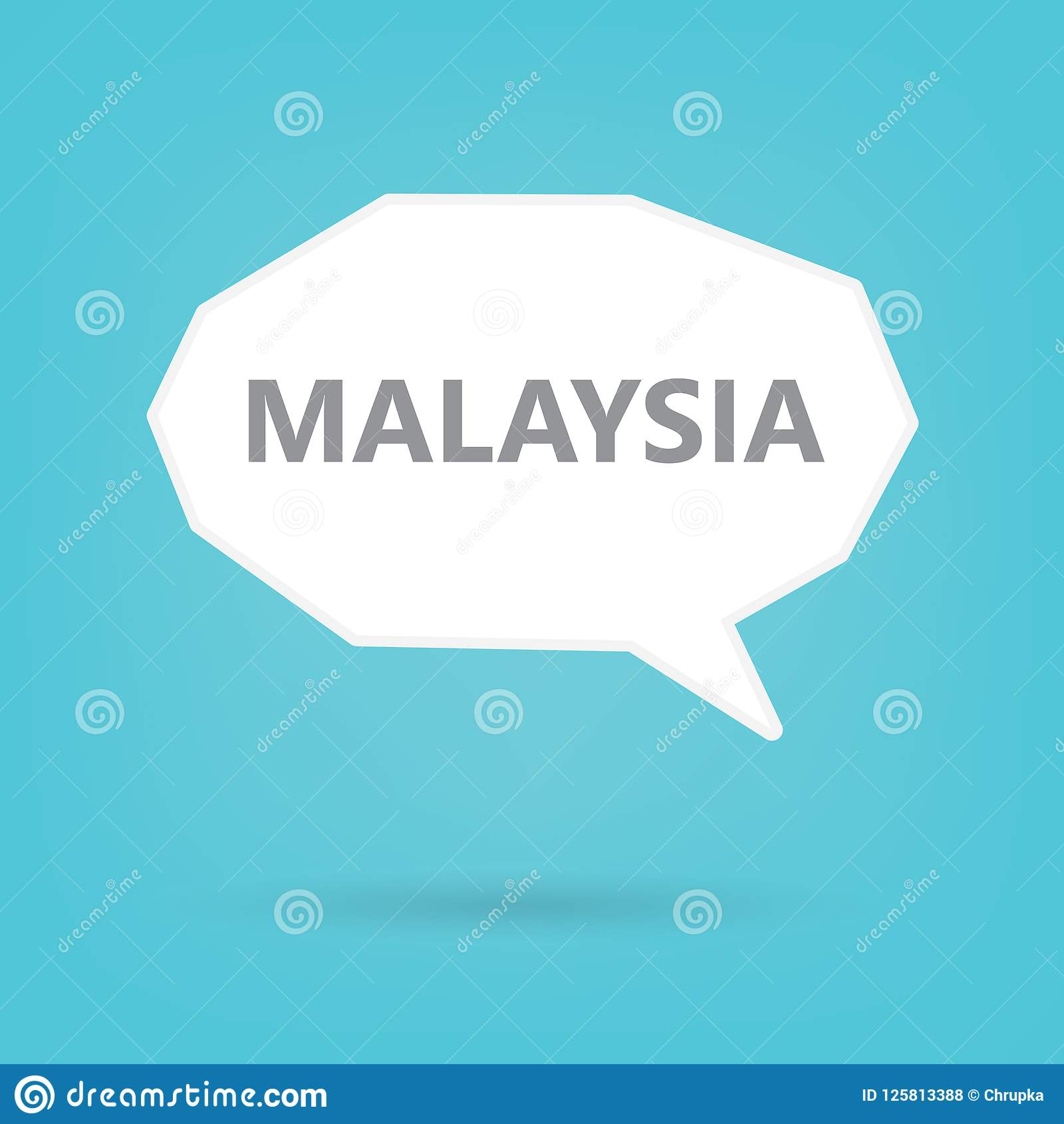 讲话泡影的马来西亚