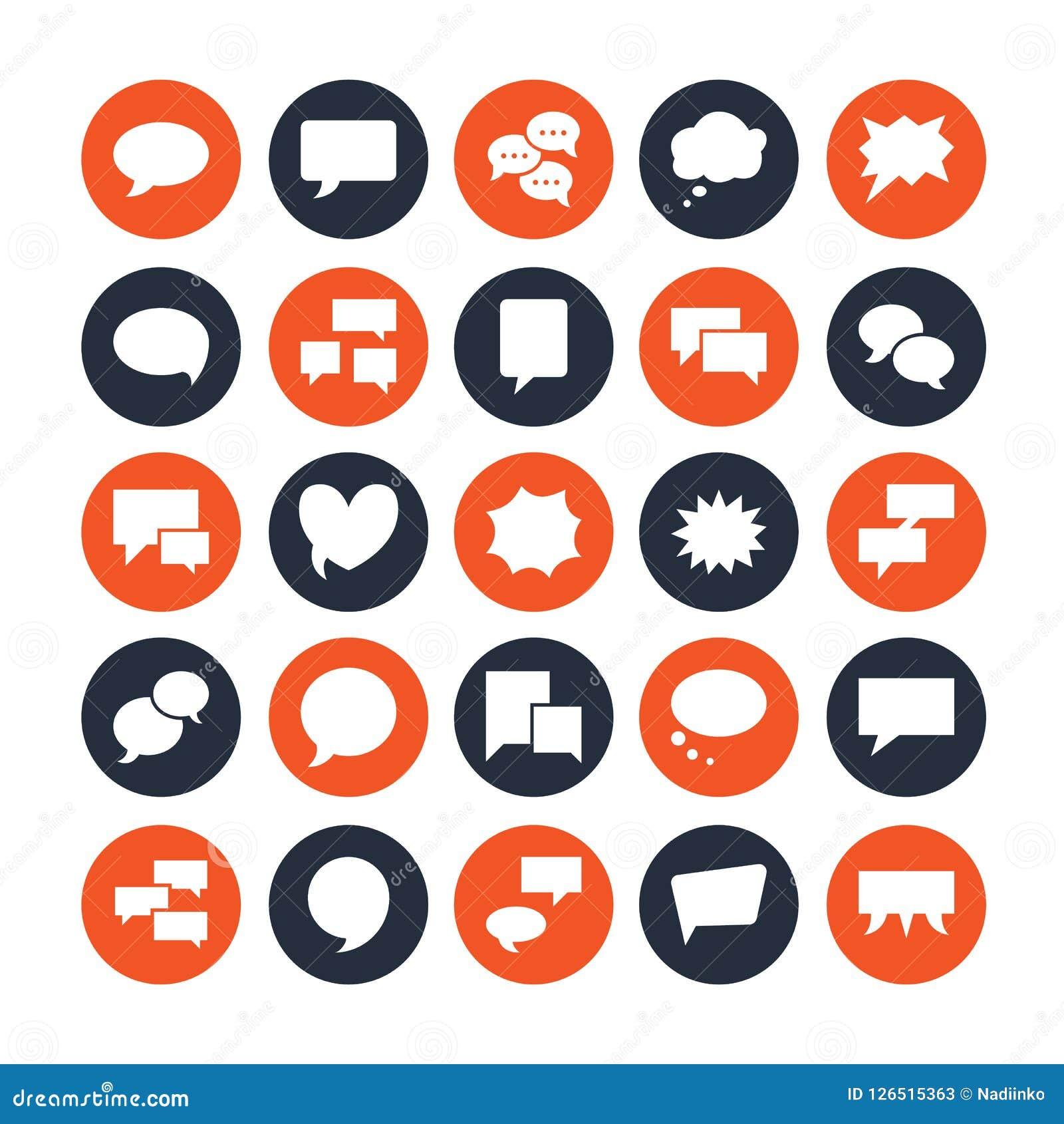 讲话泡影讲话平的纵的沟纹象 闲谈,评论,想法例证 通信概念的标志 固定