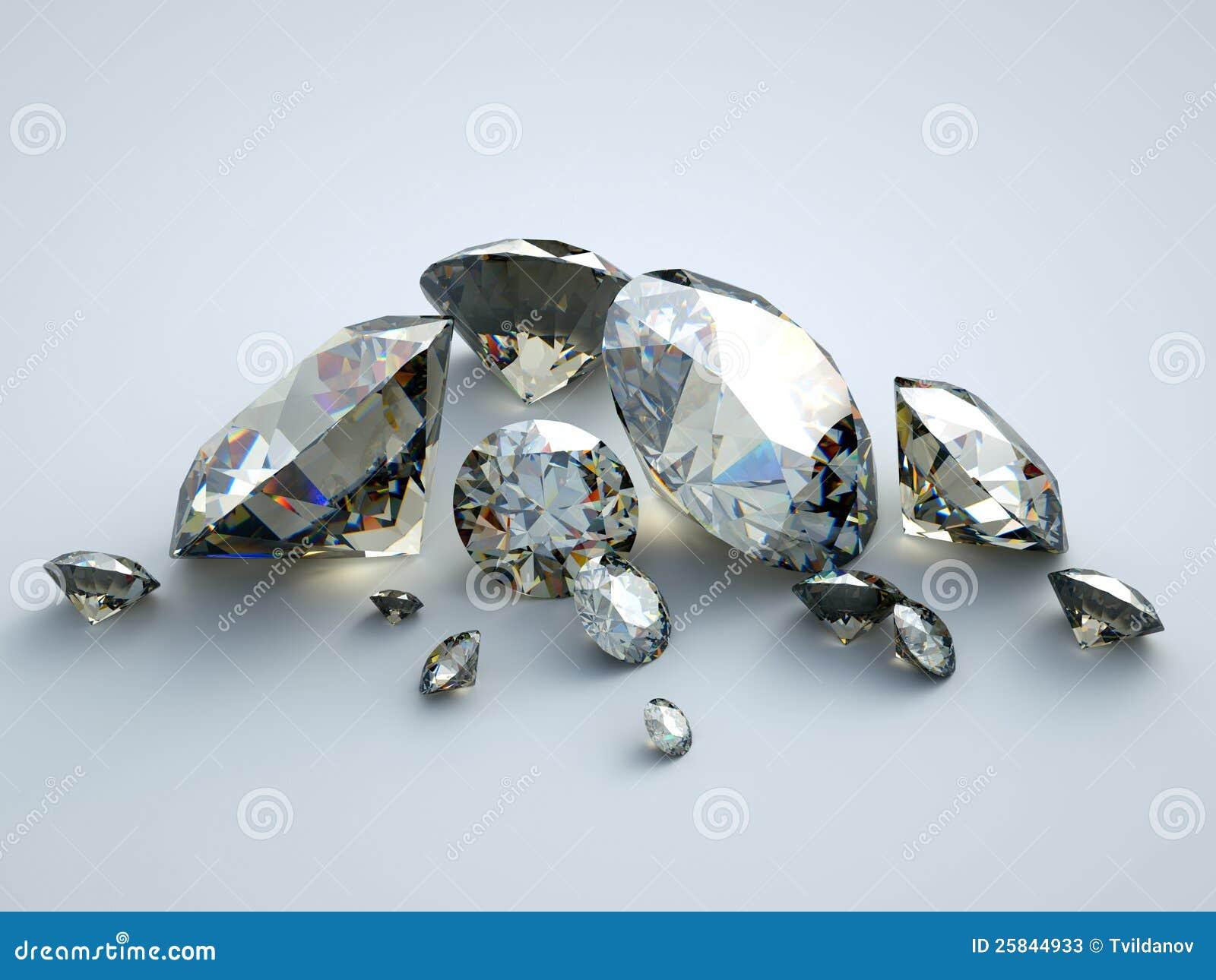 许多分散的宝石