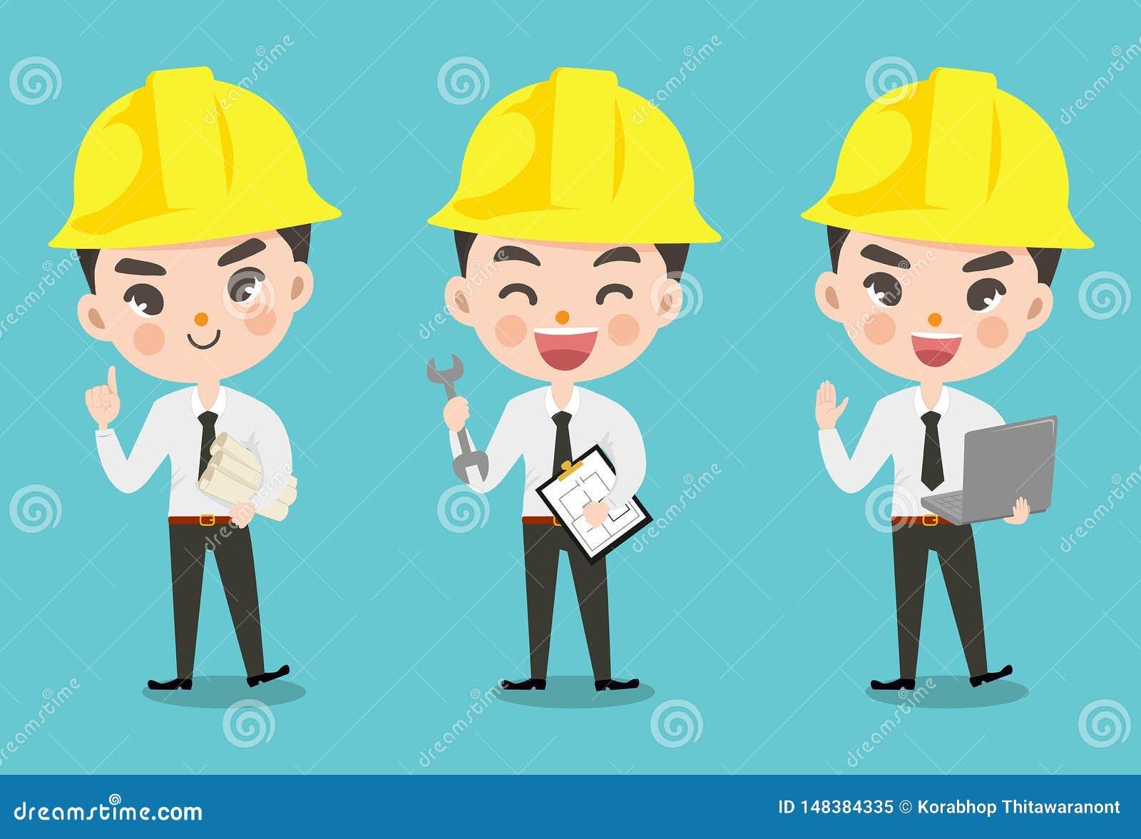 许多的工程师男孩行动