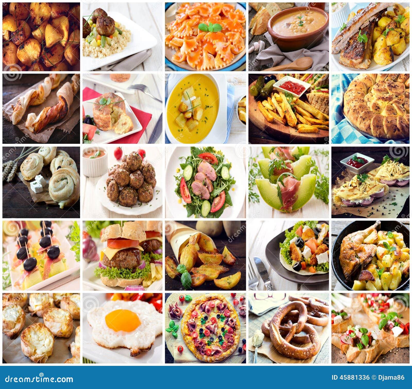 许多种类另外食物