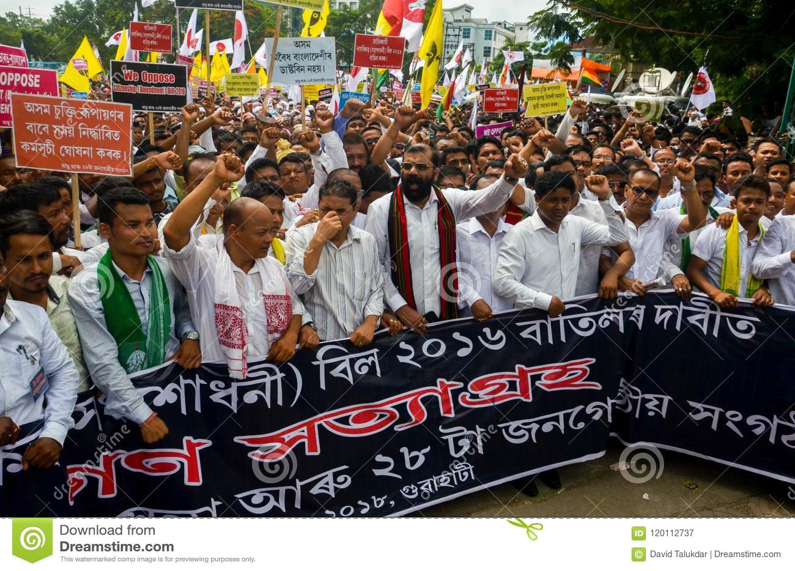 许多Satyagraha抗议