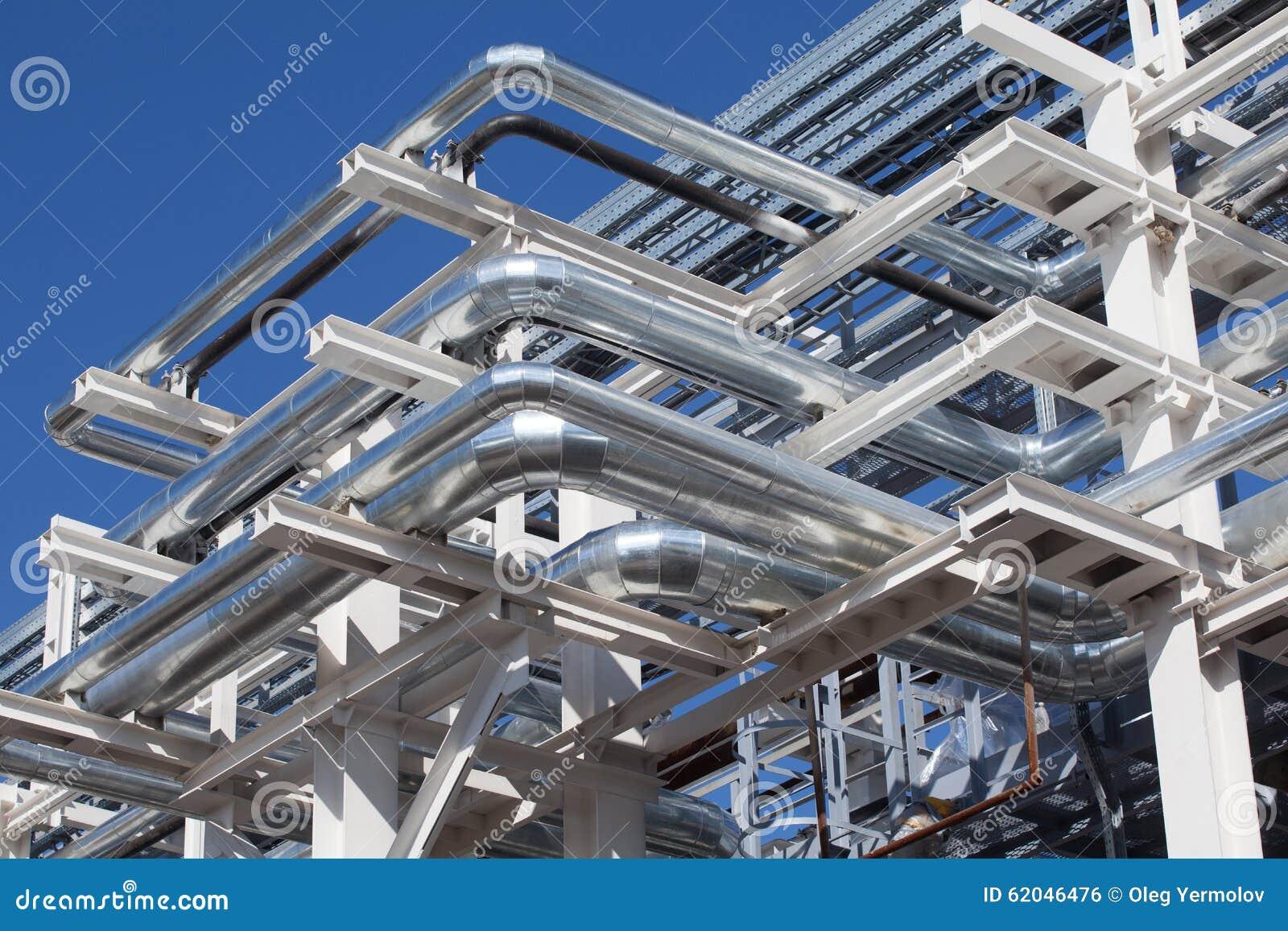 设备行业最新的石油精炼区域 钢管道