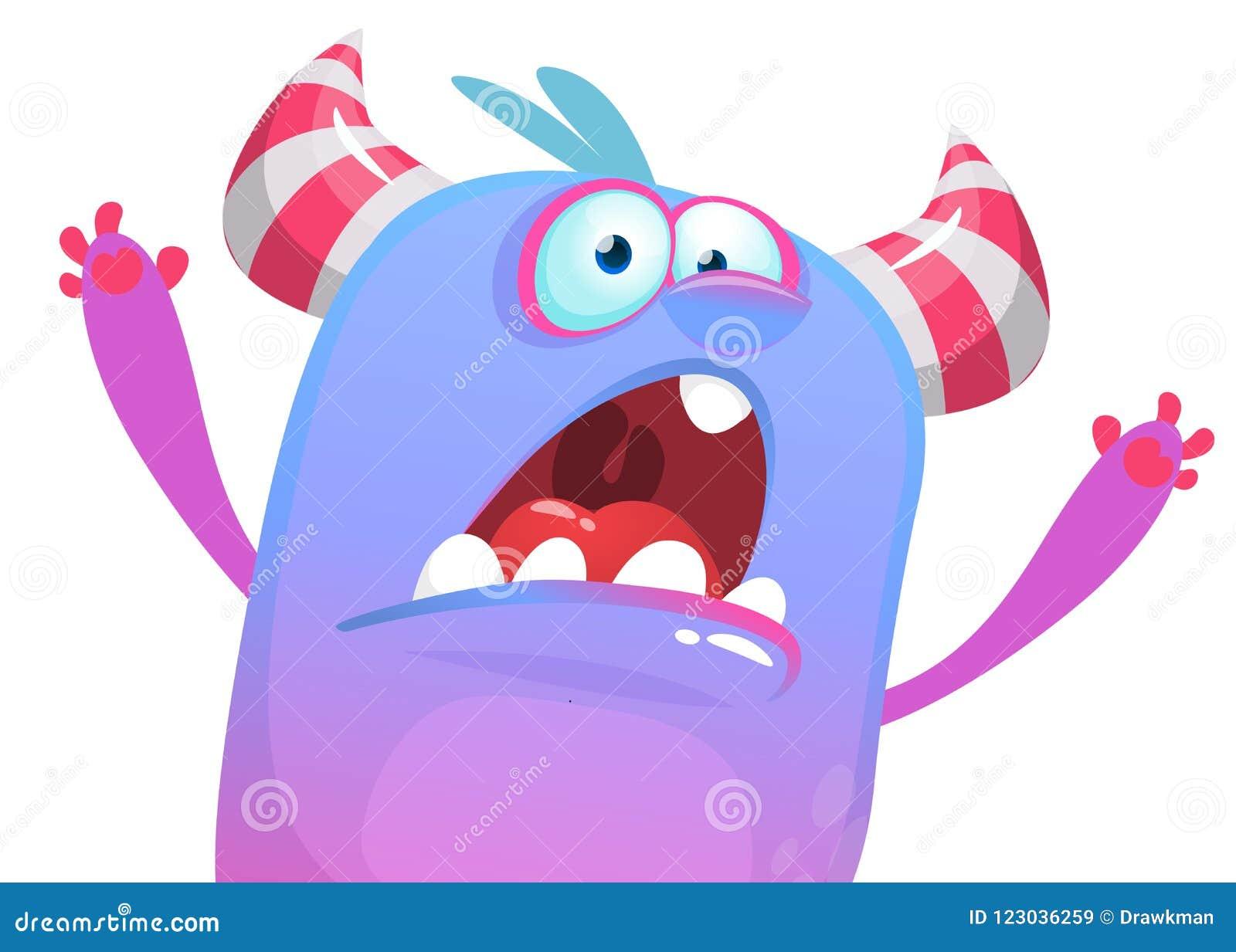 设法恼怒的动画片妖怪的象惊吓 万圣节例证向量