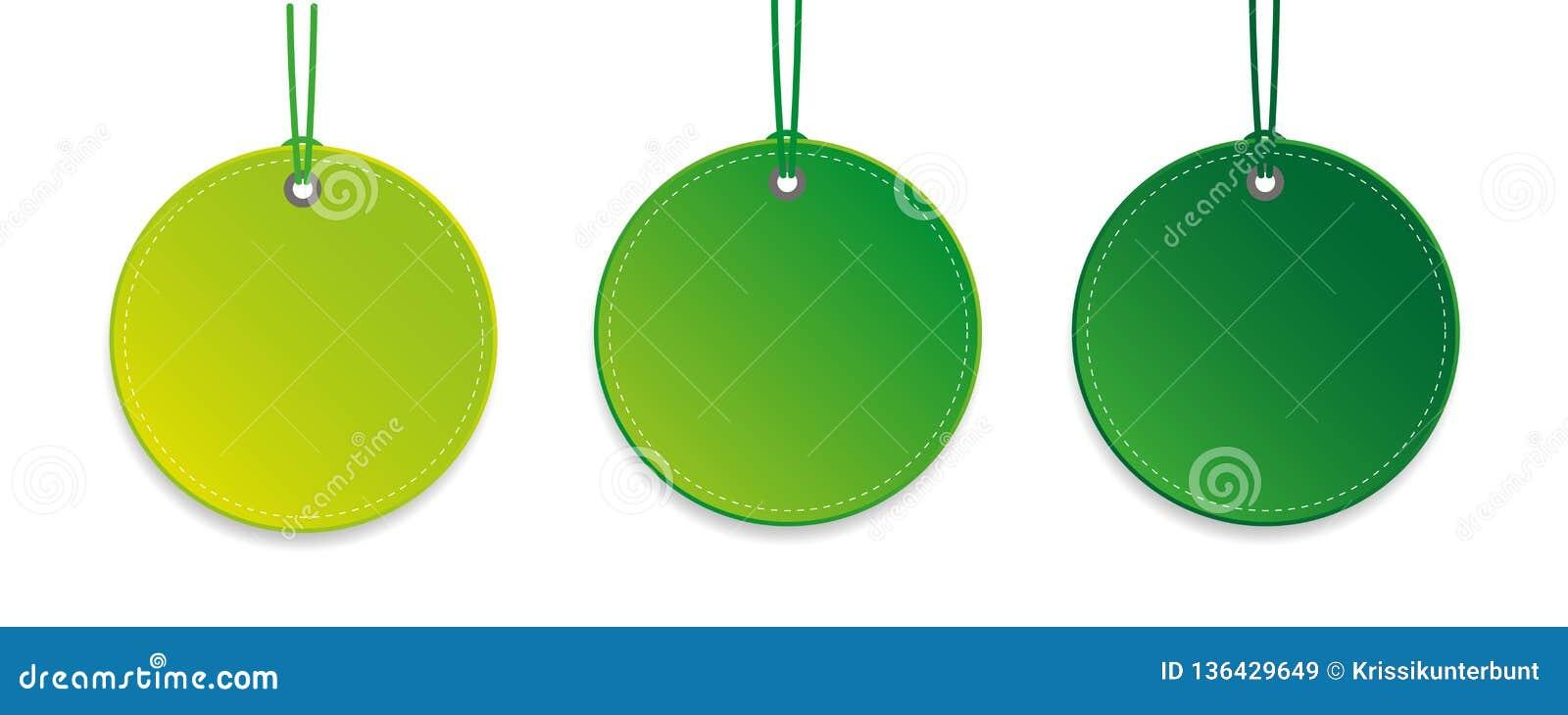 设置三个绿色垂悬的标记被隔绝