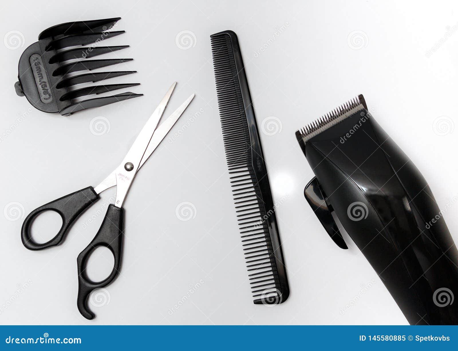 设置为理发的工具,剪,梳