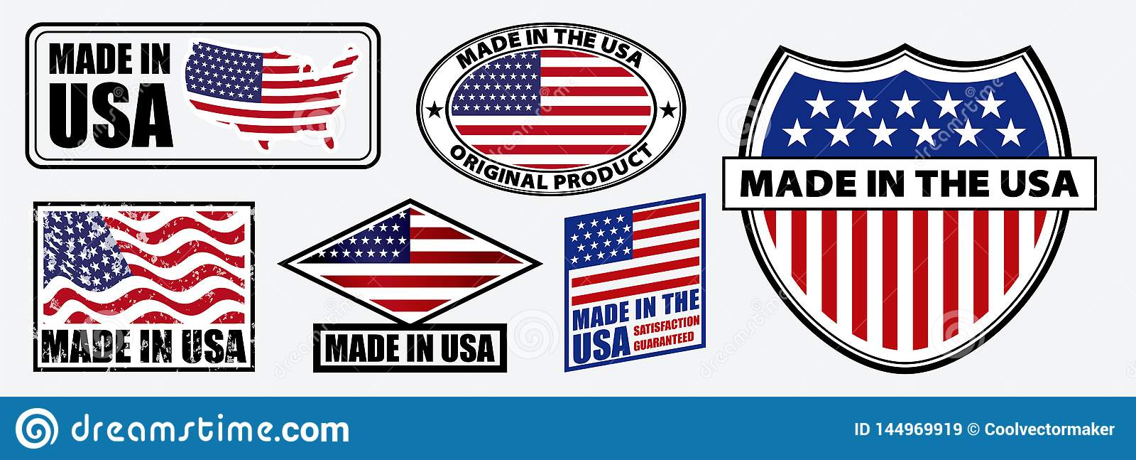 设置做在美国为零售产品或织品项目标记