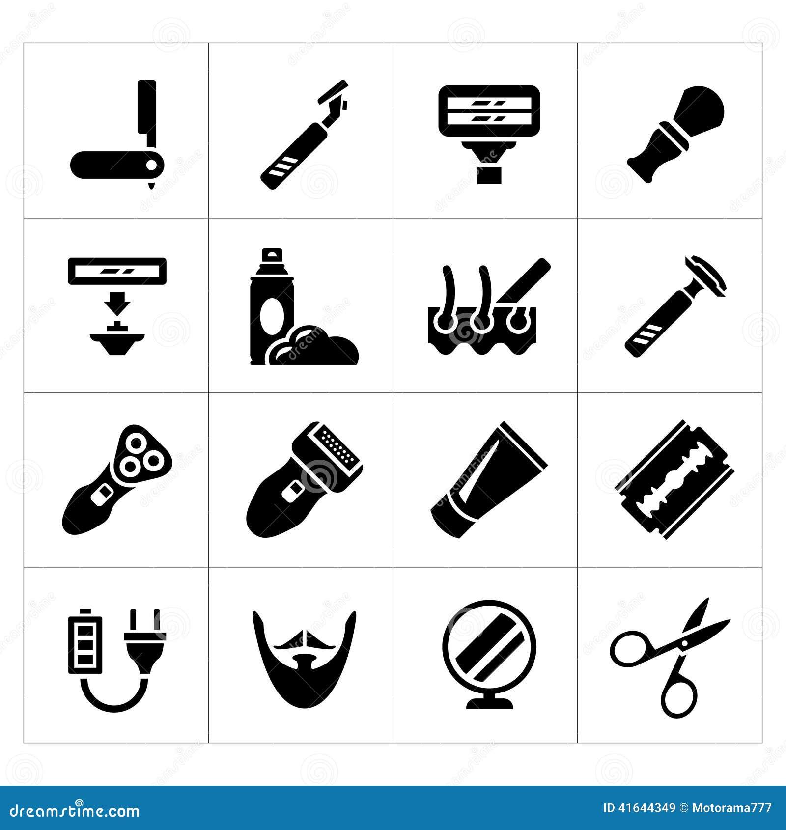 设置刮脸、理发师设备和辅助部件象
