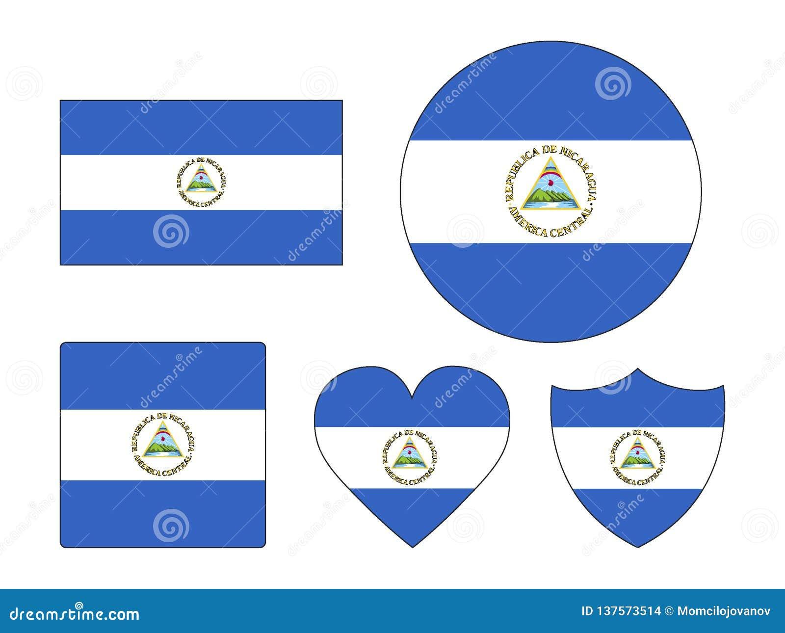 设置尼加拉瓜的旗子