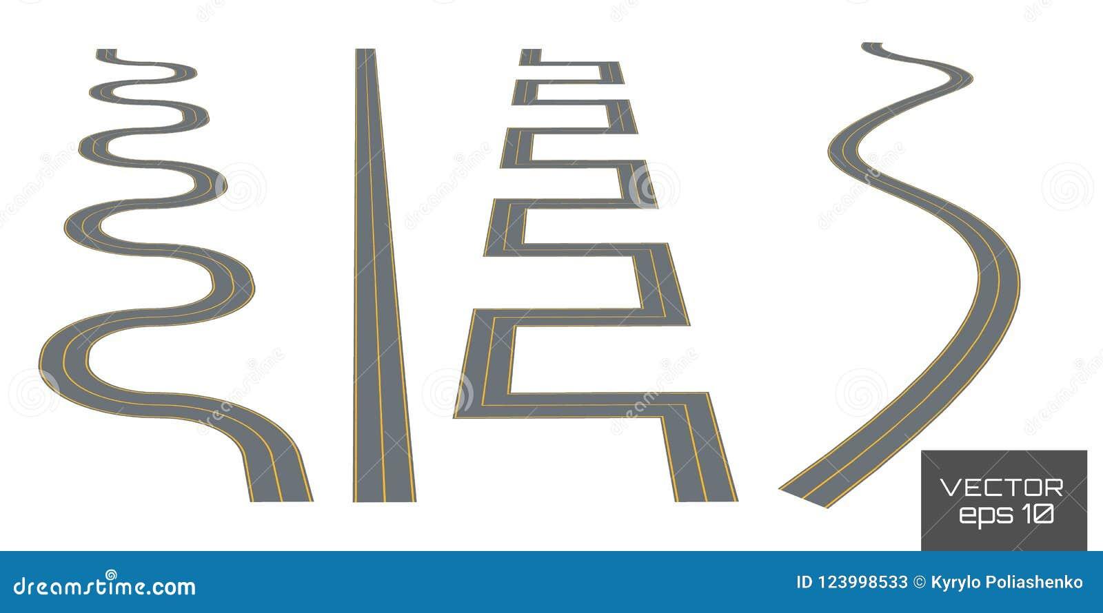 设置弯曲的路线