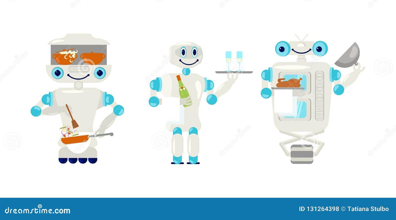 设置机器人侍者和厨师平的样式的