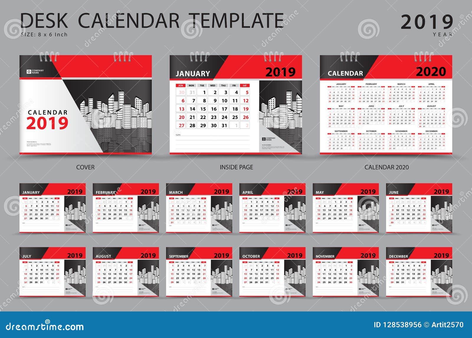 设置桌面日历2019年模板 套12个月 计划程序 在星期天,星期起始时间 文具设计 登广告者做广告 向量