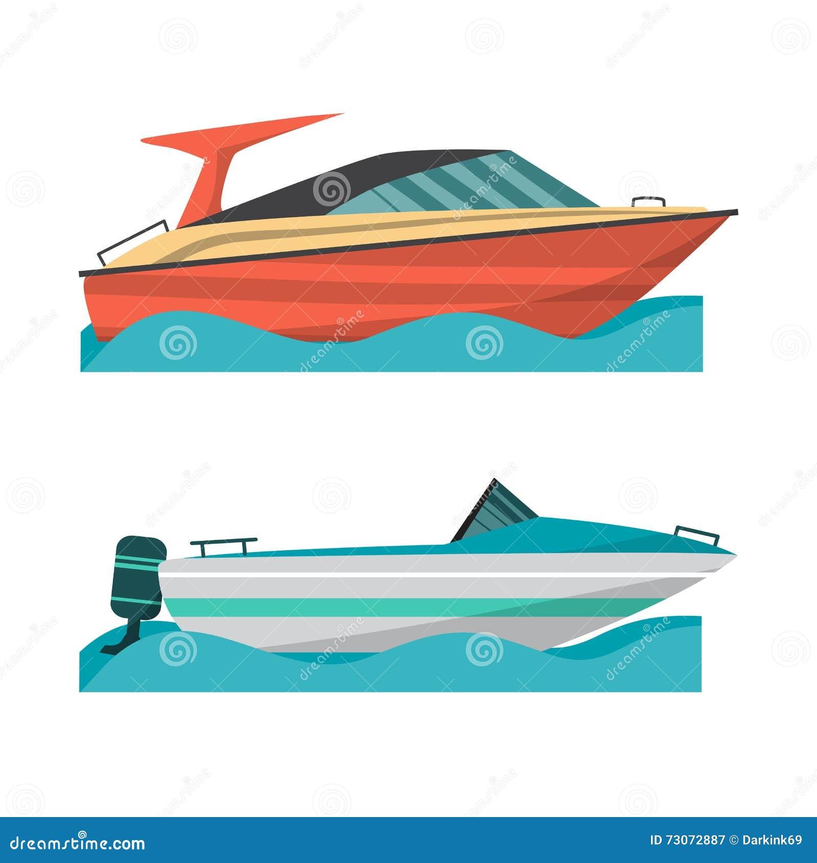 设置汽船和小船有外置马达的