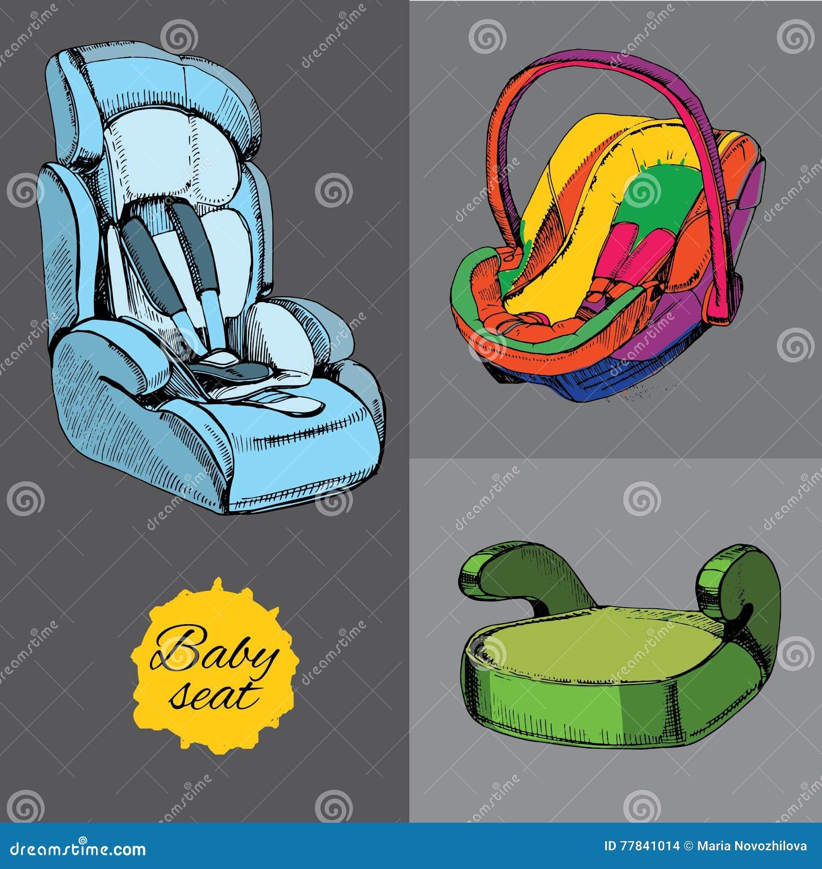 设置汽车的婴孩位子 所有类别、婴儿、孩子和学生