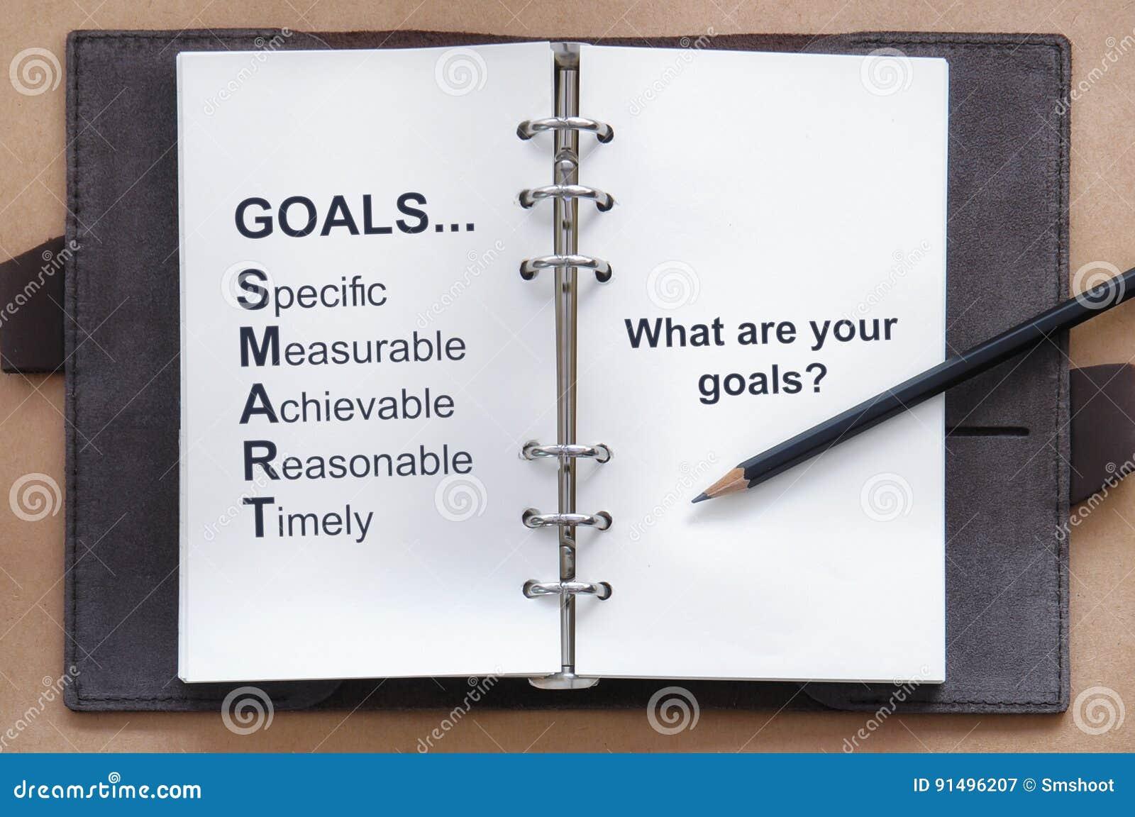 设置目标工具,并且什么是您的在组织者书的目标词与铅笔