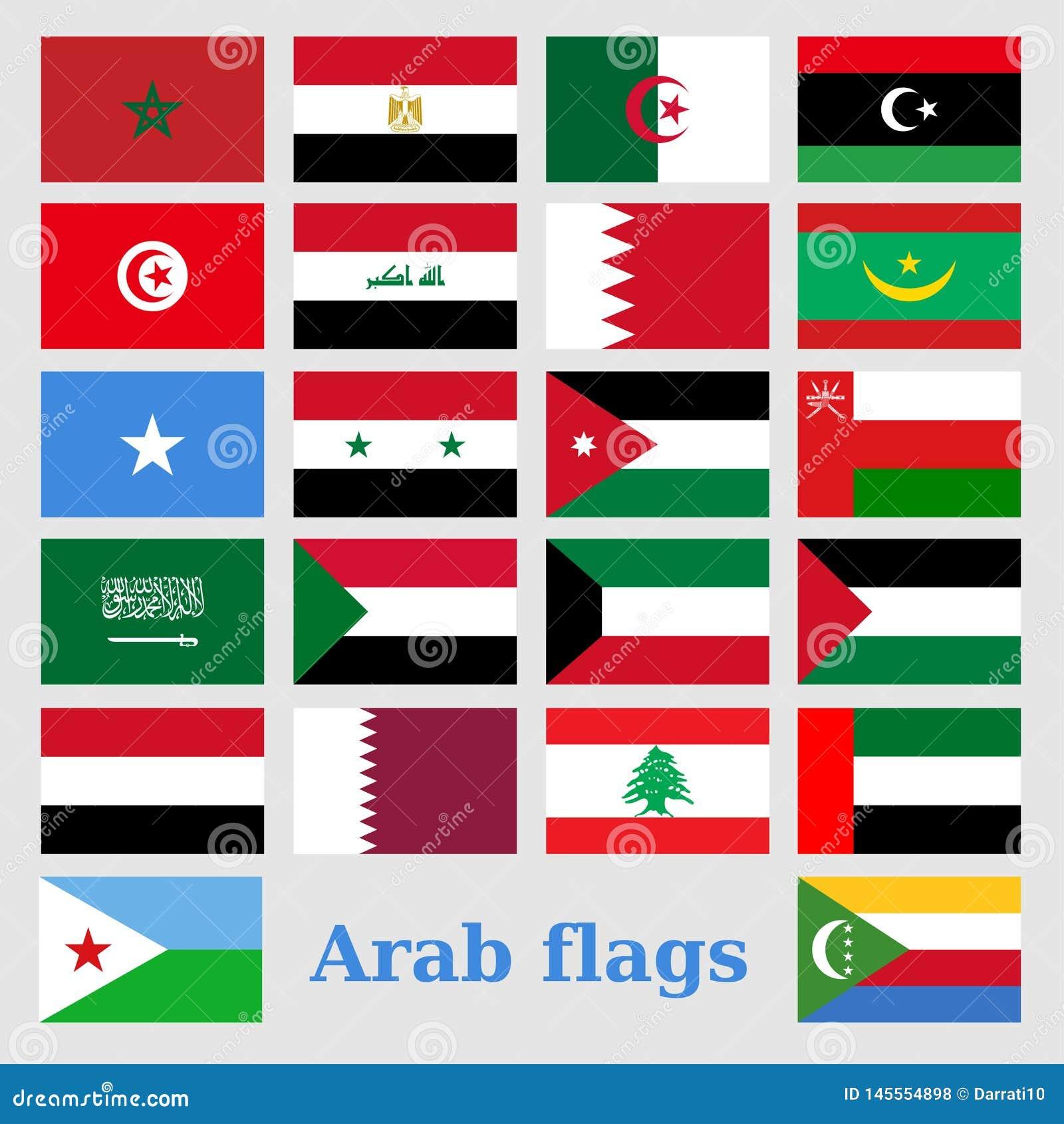 设置阿拉伯旗子