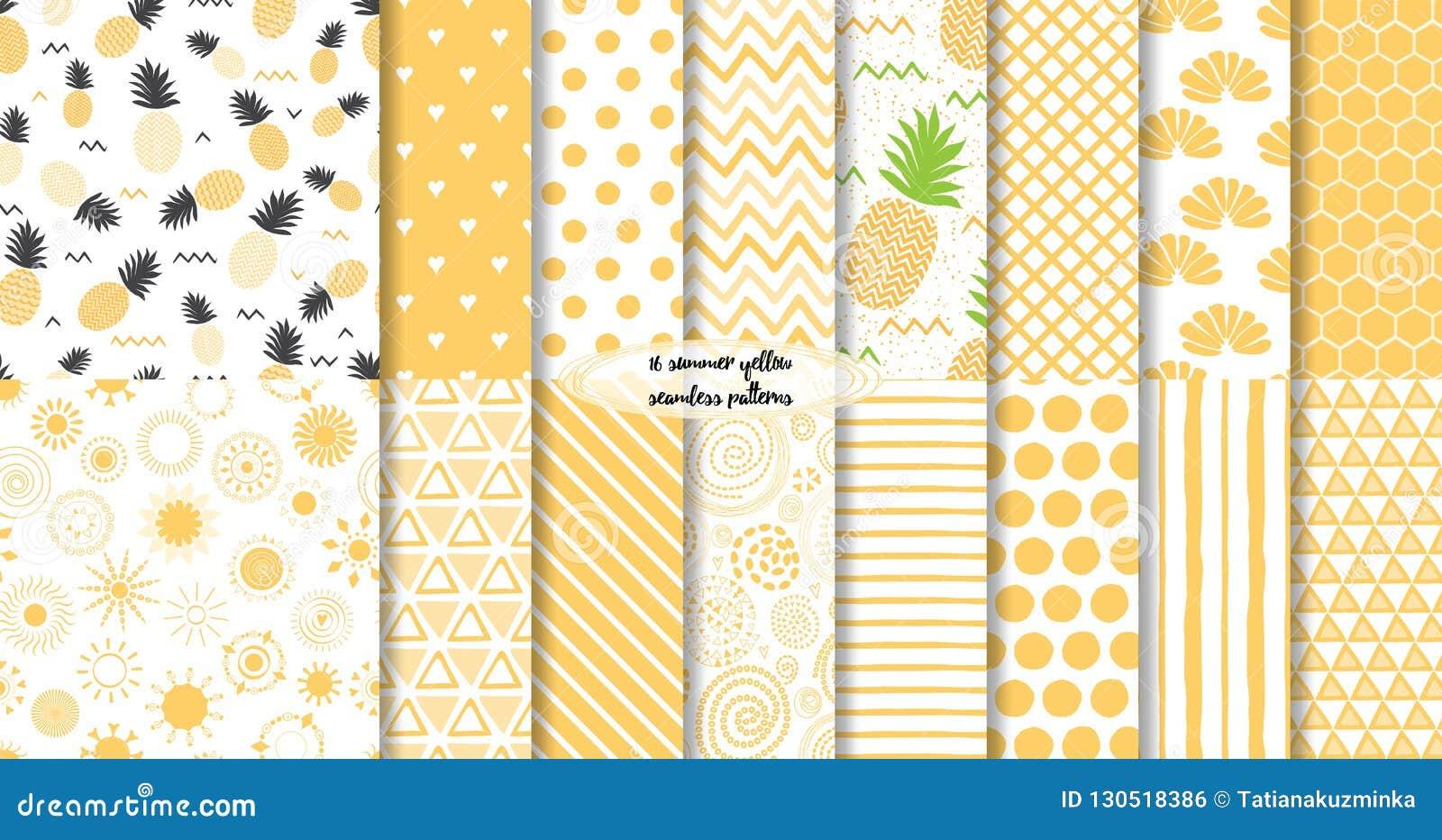 设置黄色夏天和果子无缝的样式 也corel凹道例证向量