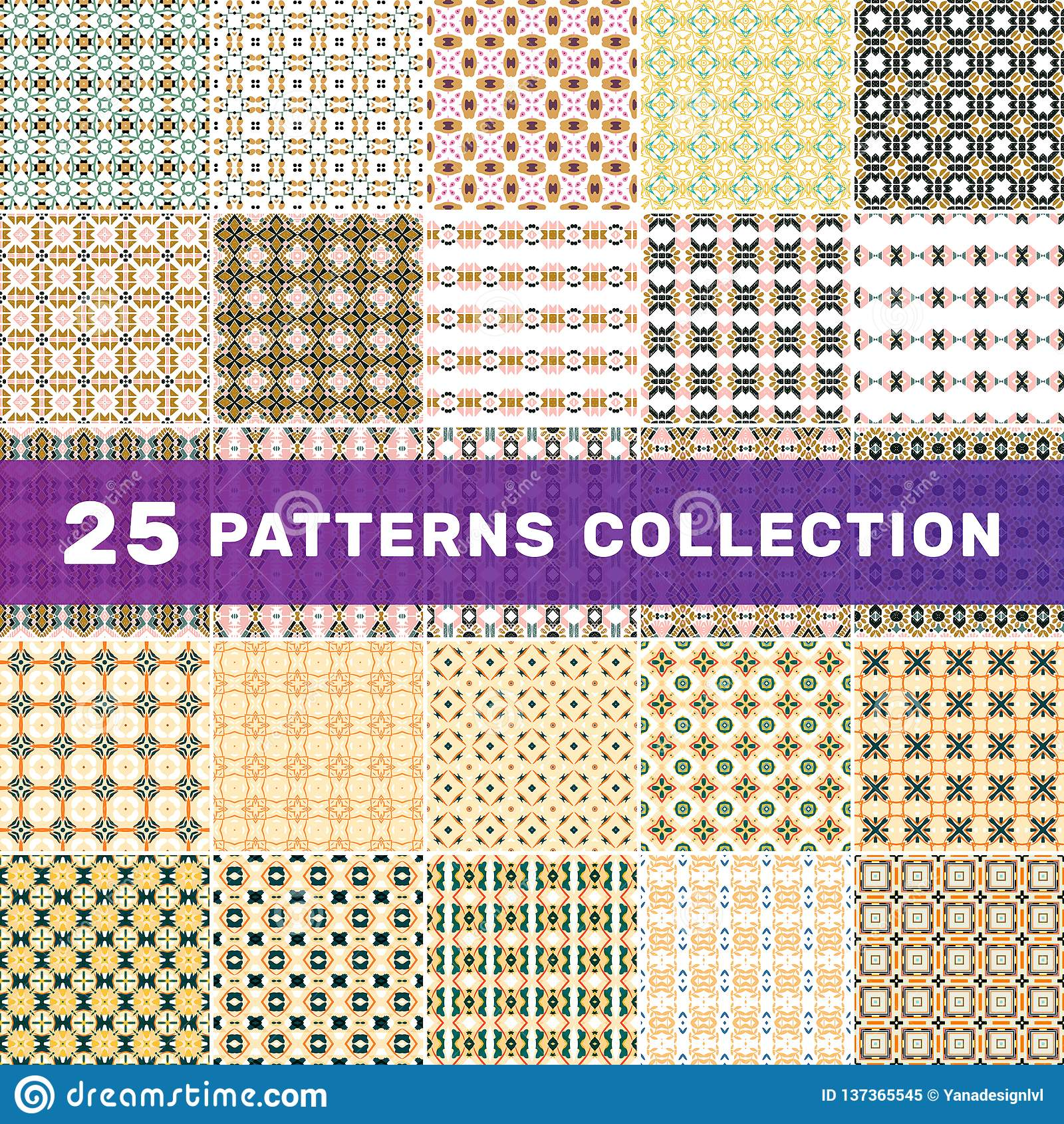 设置25个几何抽象样式