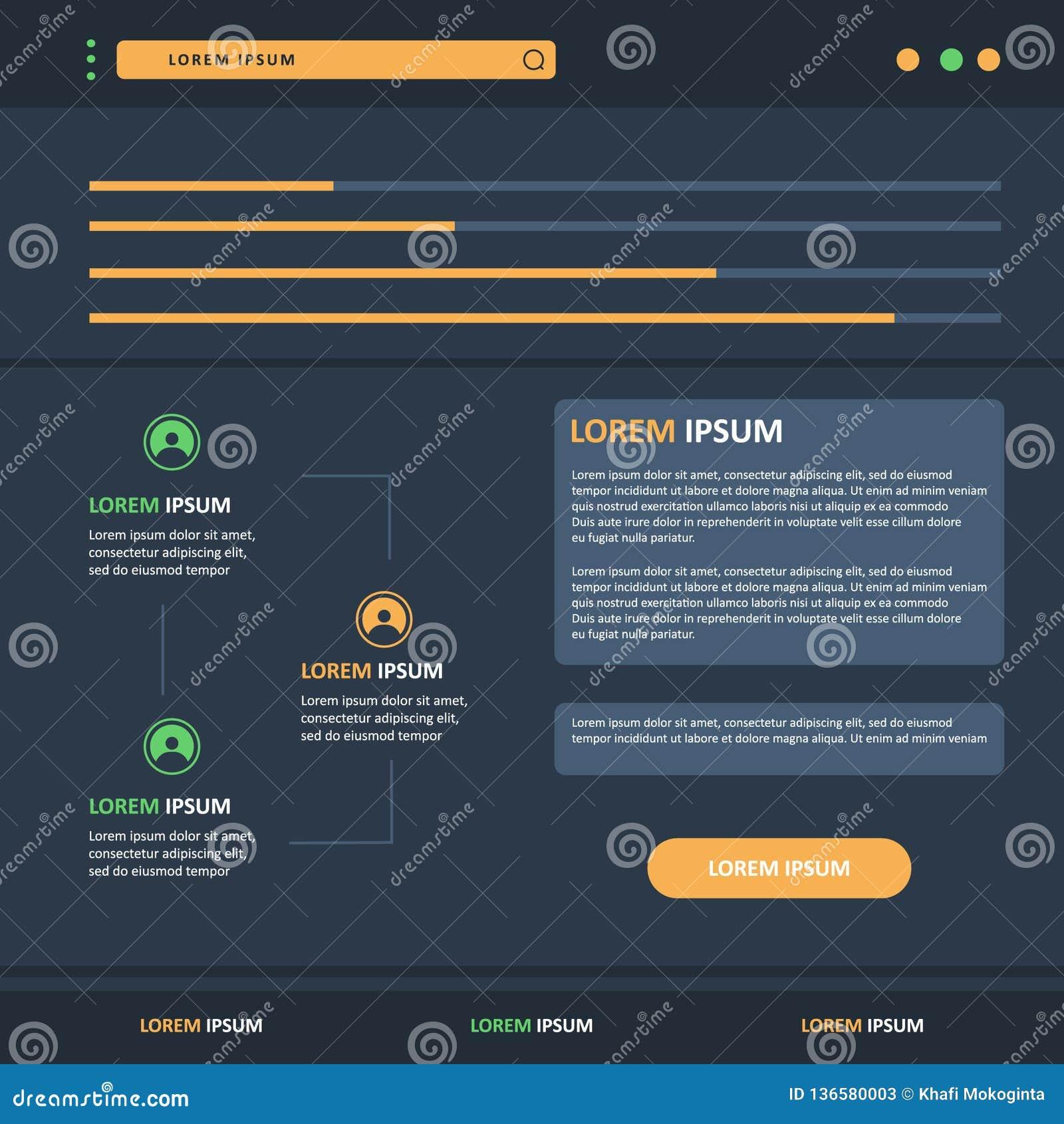 设计与颜色按钮的模板infographics