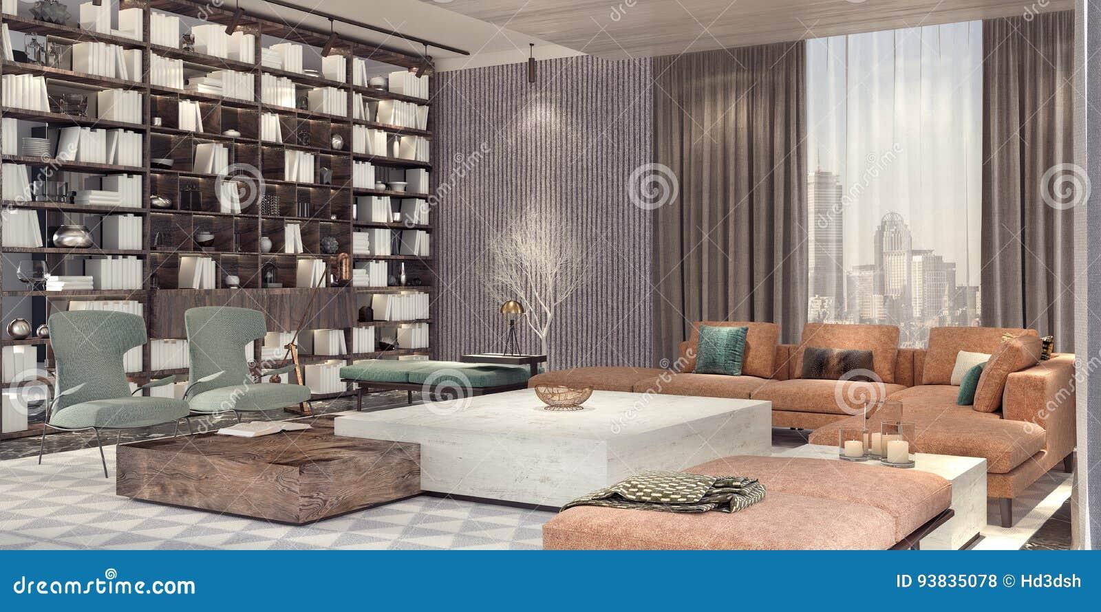 设计内部居住的现代空间