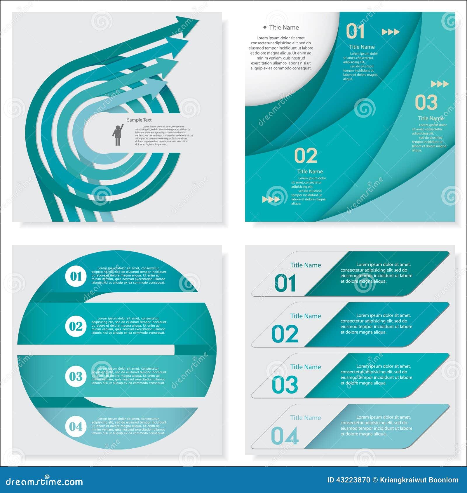 设计干净的数字横幅模板的汇集 向量