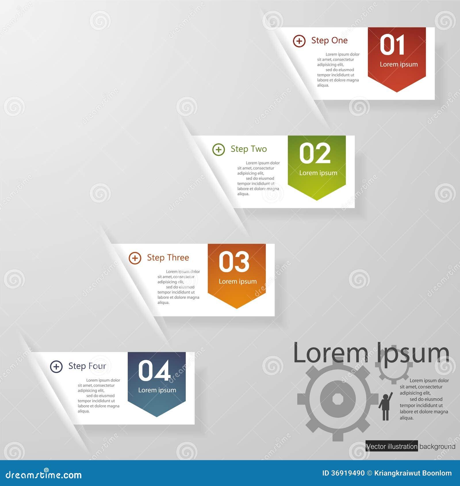 设计干净的数字横幅模板/图表或网站布局。