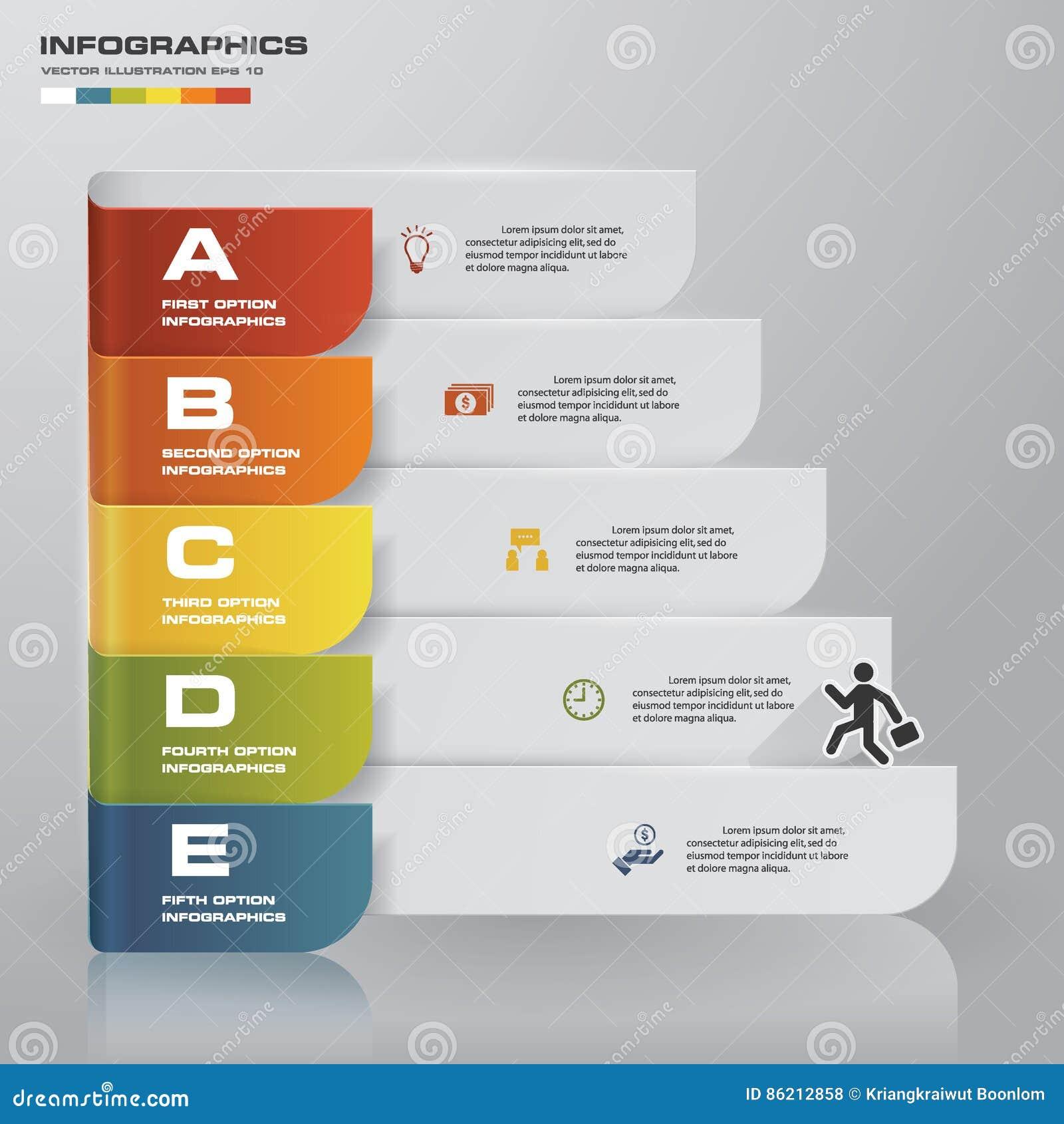 设计干净的数字横幅模板/图表或网站布局 向量