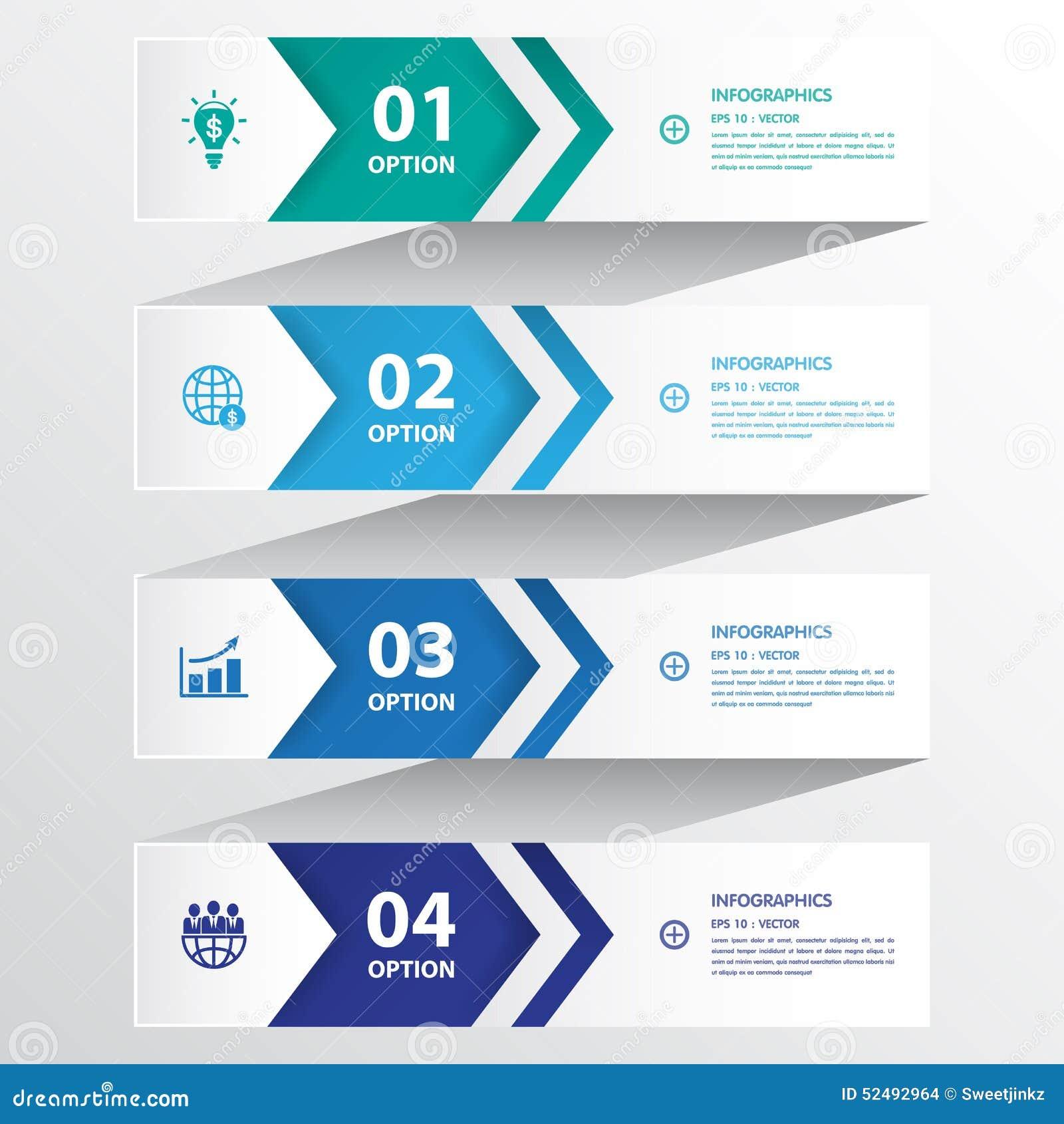设计干净的数字横幅模板/图表或网站布局