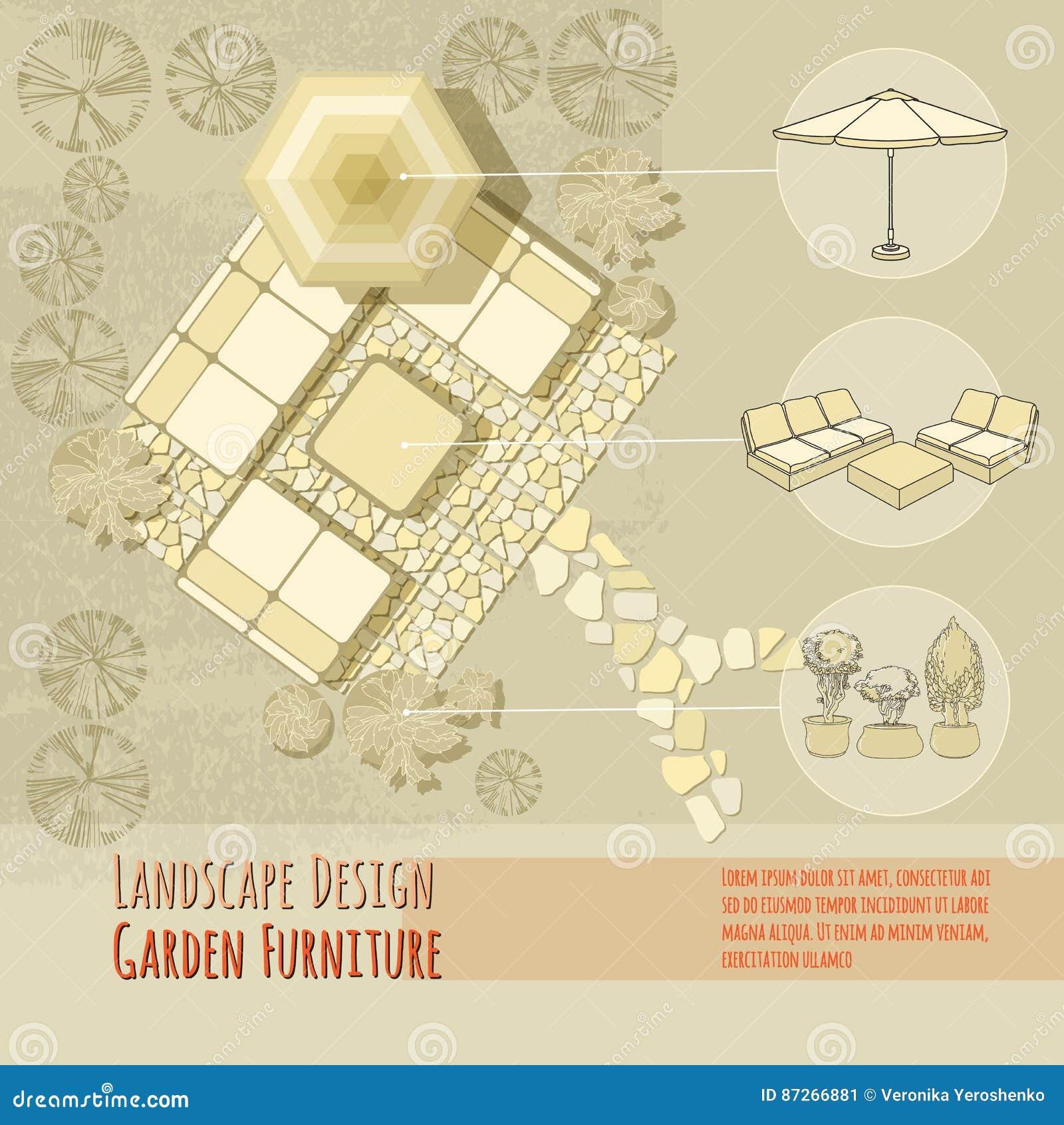设计庭院庭院哈密尔顿新西兰 躺椅,伞 顶视图