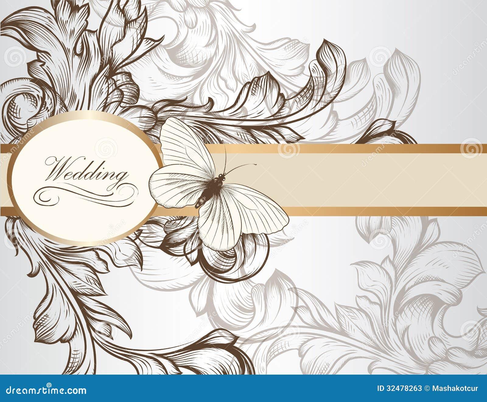 设计的典雅的婚礼邀请卡片