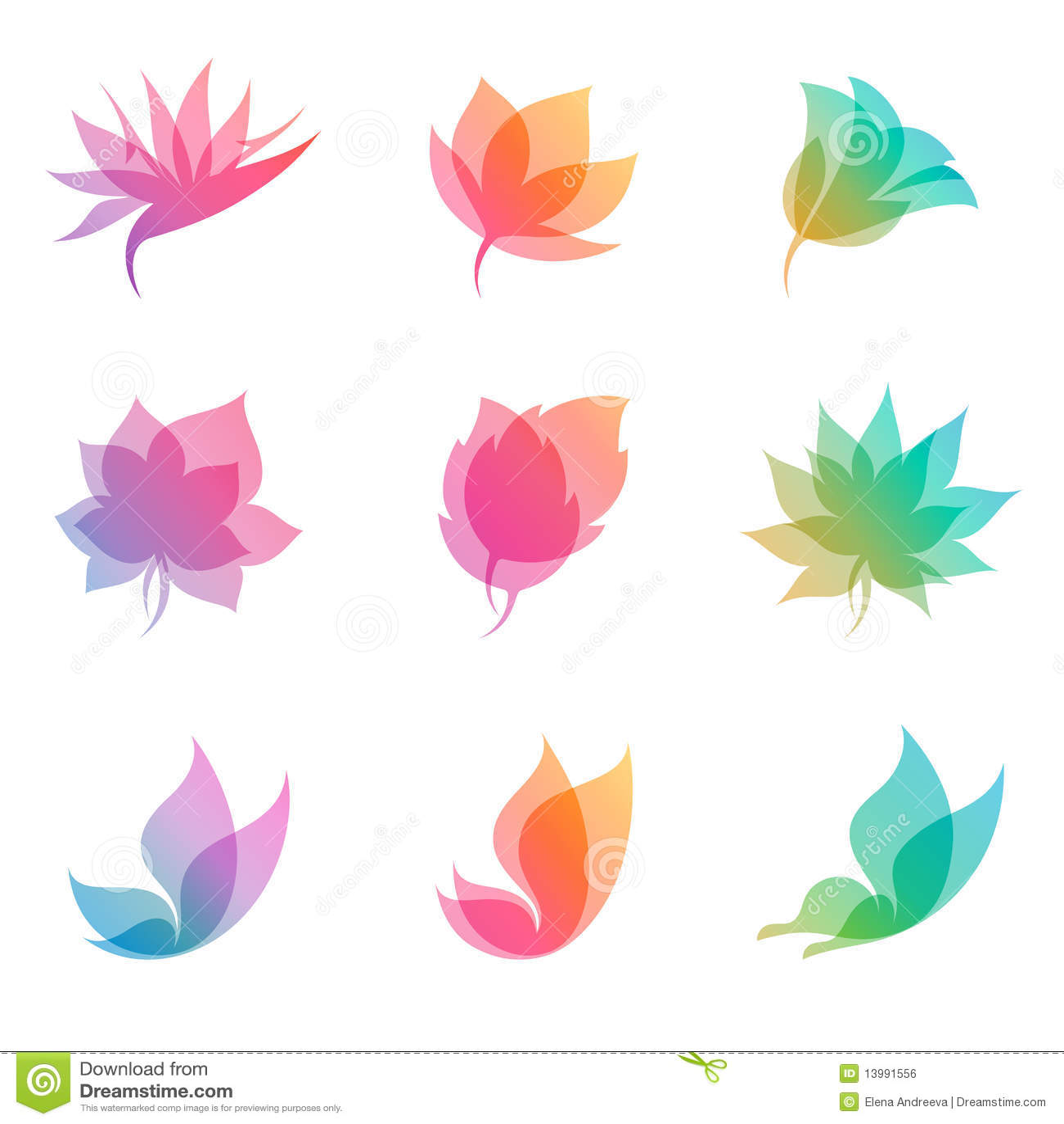 设计要素本质柔和的淡色彩向量