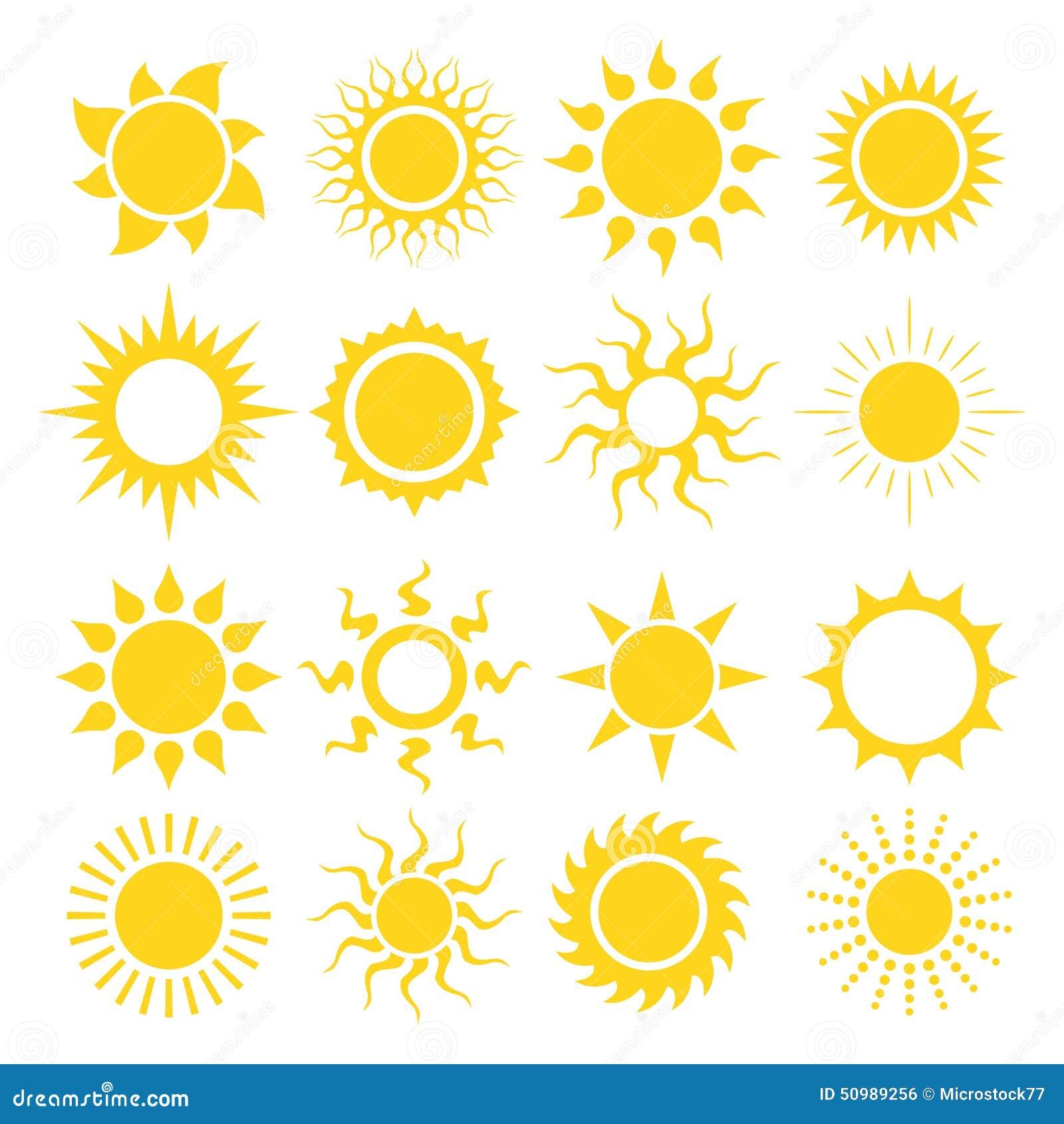 设计要素图标集合星期日