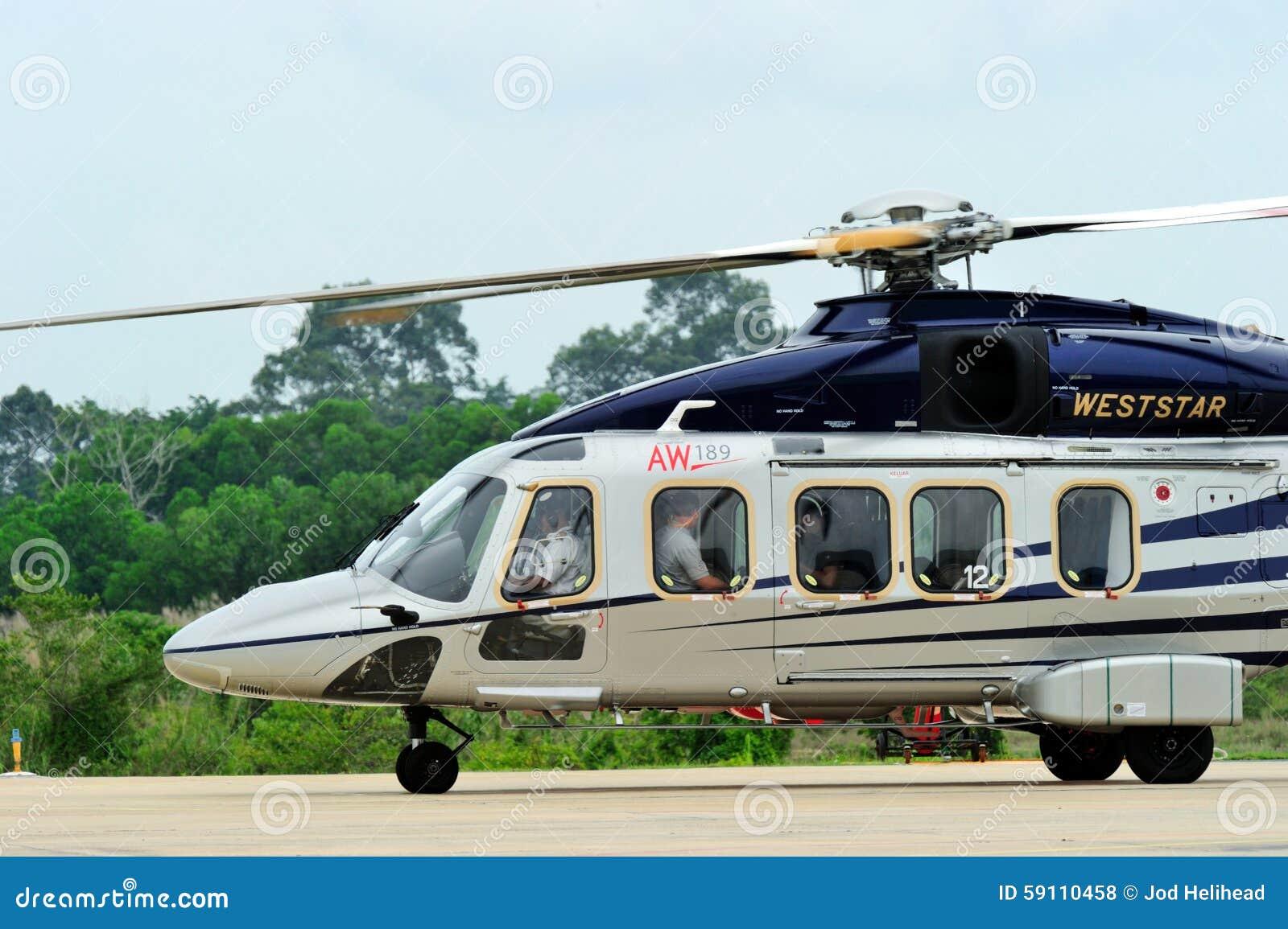 访问泰国的AgustaWestland AW189亚洲游览