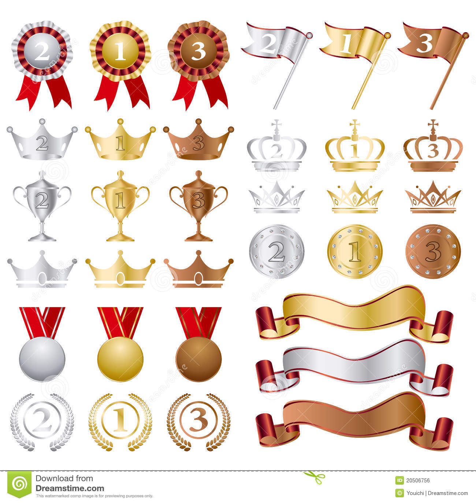 证书古铜色金集合银