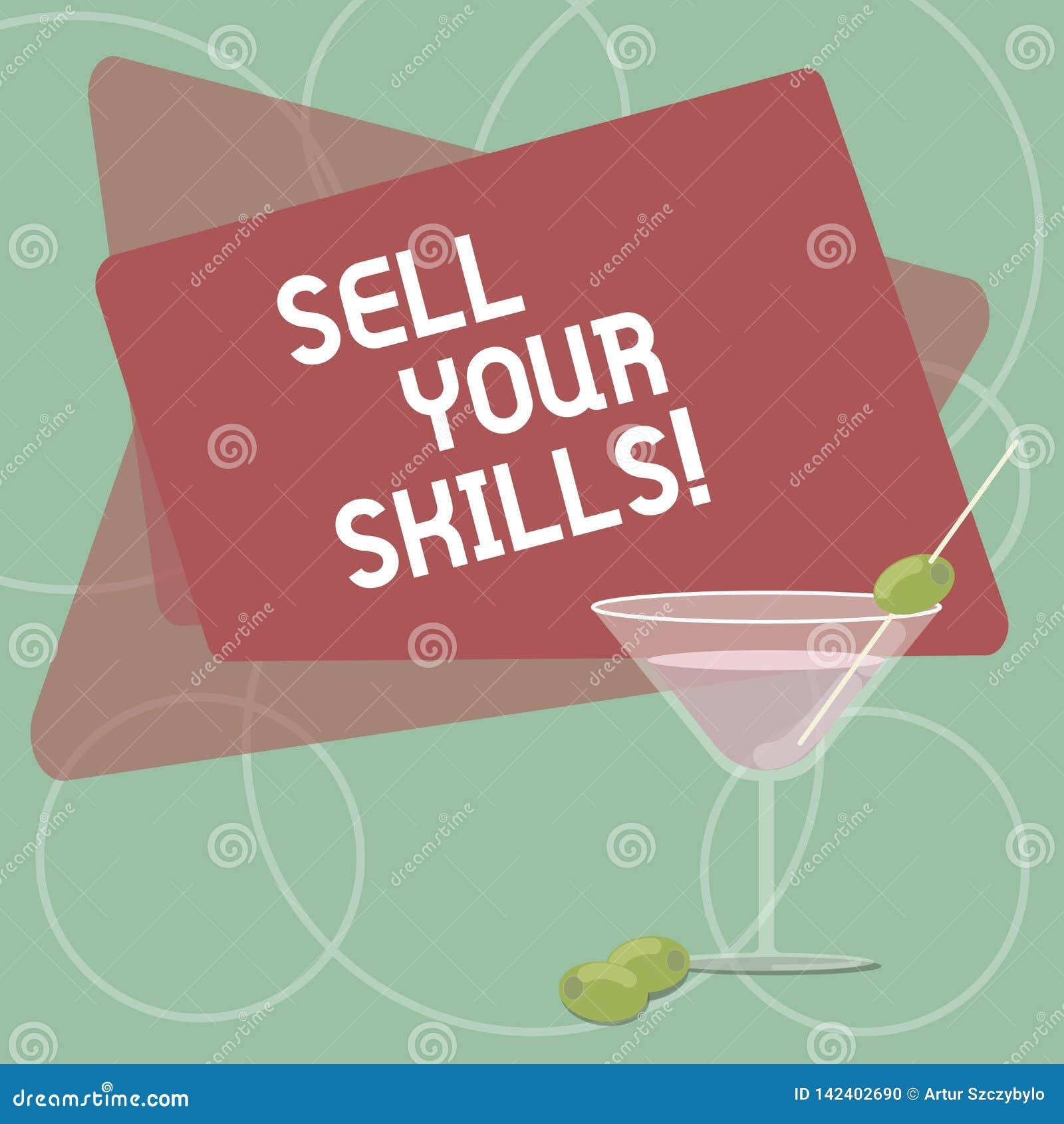 词文字文本卖您的技能 企业概念为做您的能力很好做某事或专门技术亮光