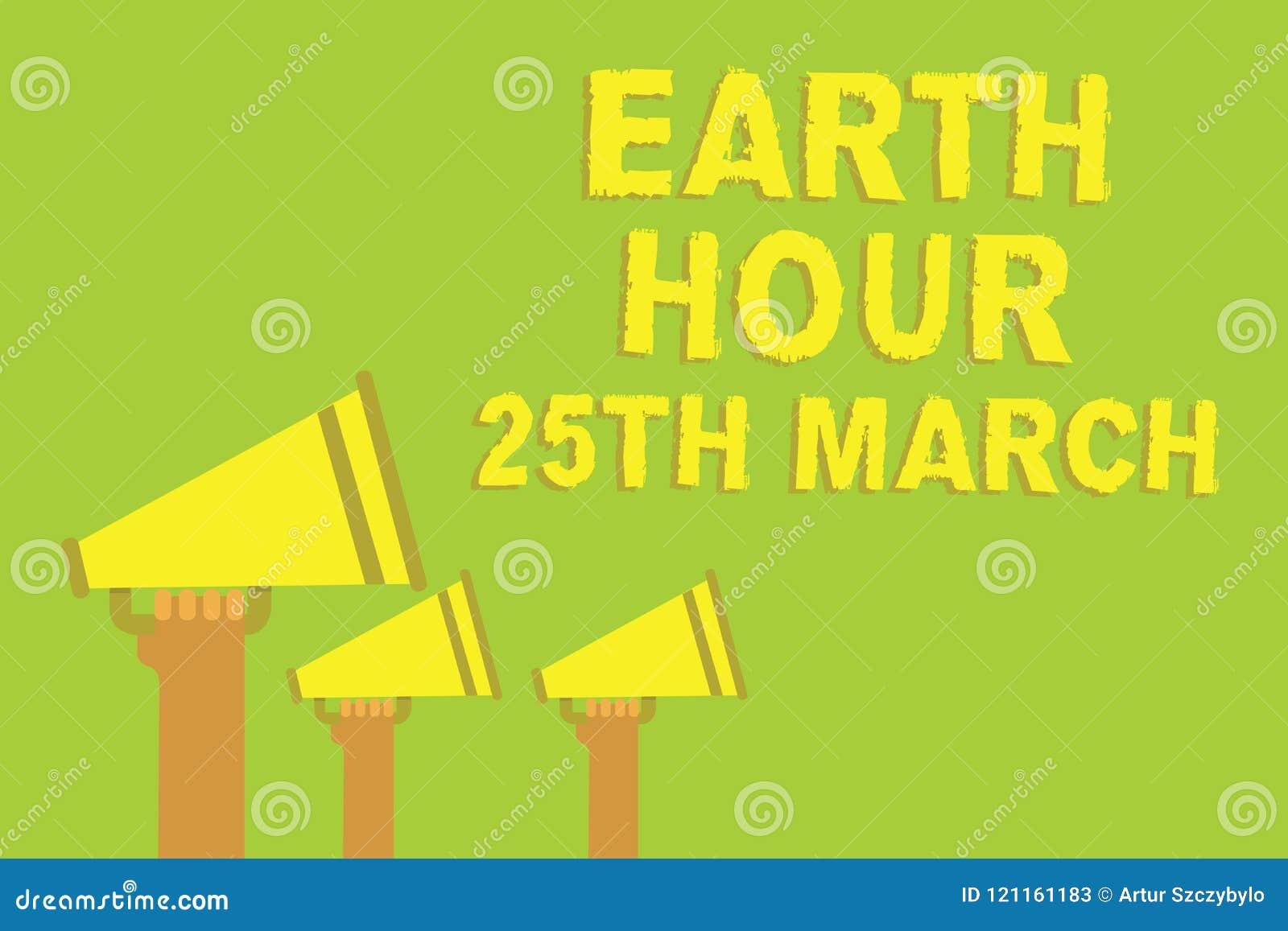词文字文本地球小时3月25日 标志承诺的企业概念对行星组织了全世界资金三合理的lo