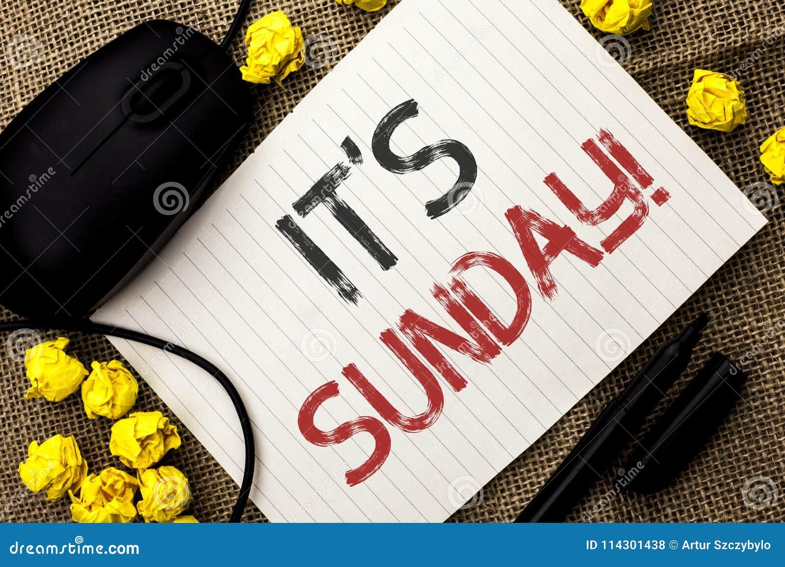 词文字文本它的星期天电话 Relax的企业概念享受在N写的假日周末假期休息日自由放松