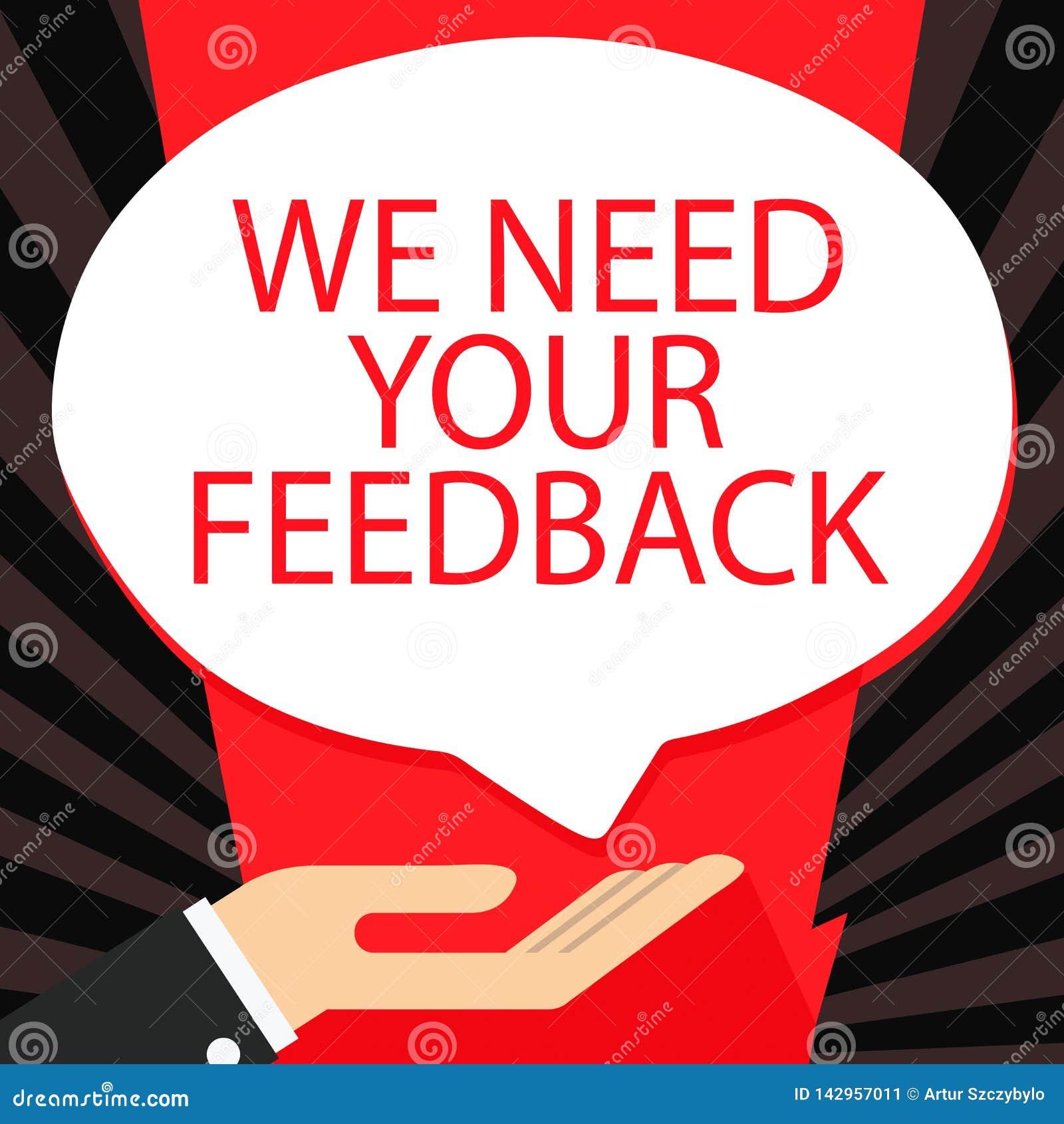 词文字文本我们需要您的反馈 批评的企业概念指定说可以做的改善棕榈上升