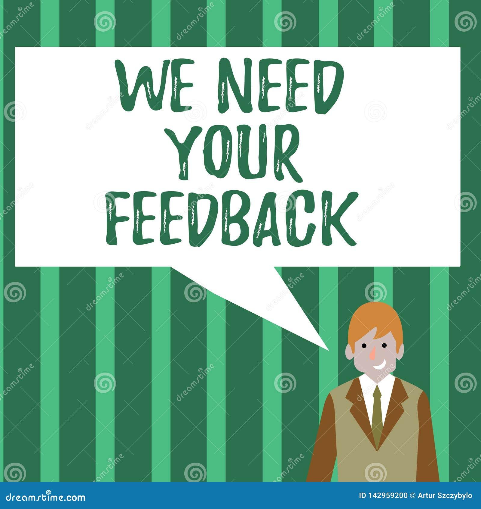 词文字文本我们需要您的反馈 批评的企业概念指定说可以是做的改善商人
