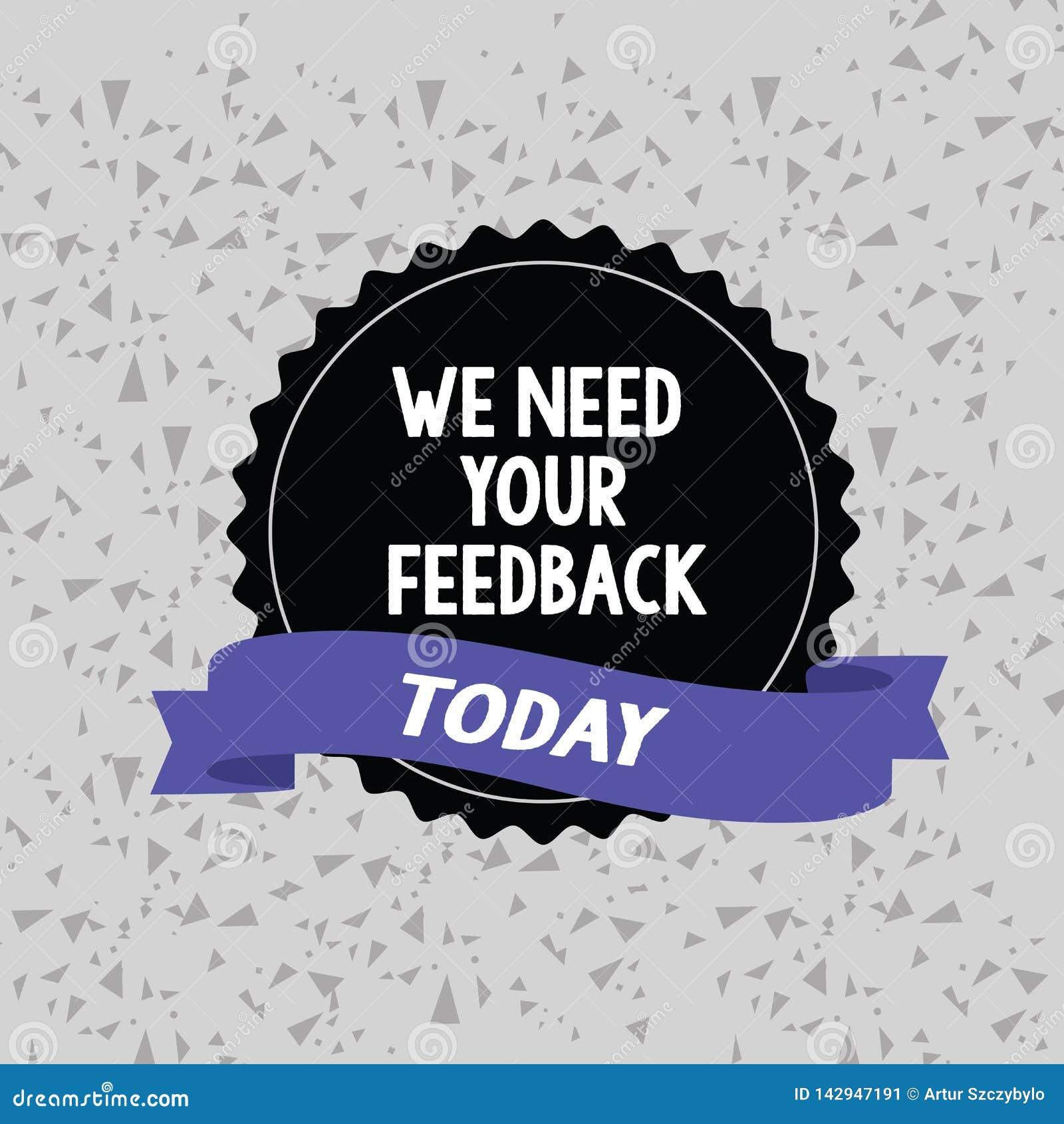 词文字文本我们需要您的反馈 批评的企业概念指定说可以是完成的改善空白的颜色